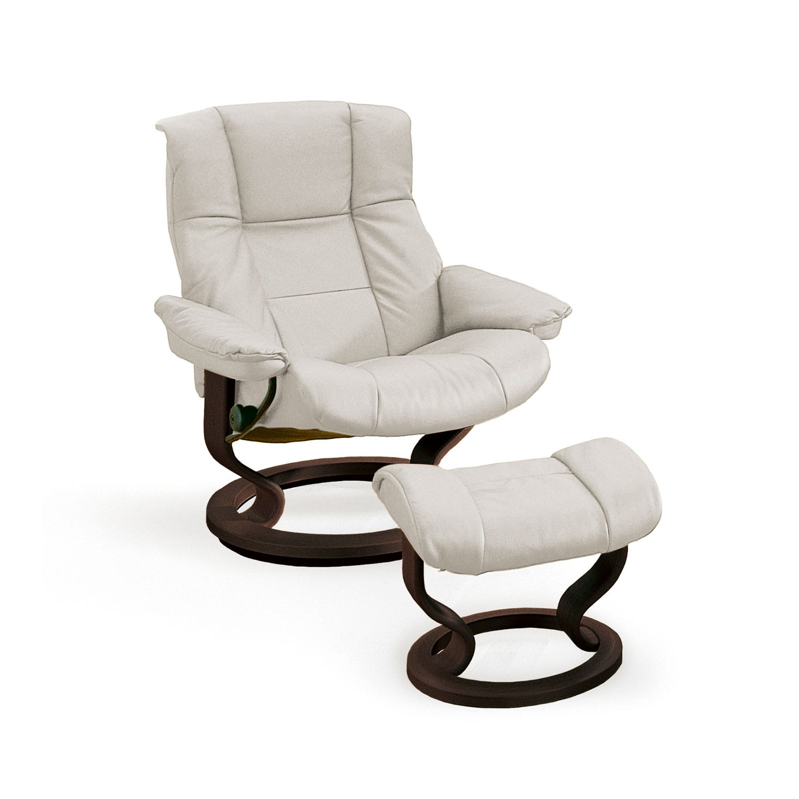 Stressless-sessel Stressless Mayfair Paloma Light Grey Classic Wenge Mit Hocker