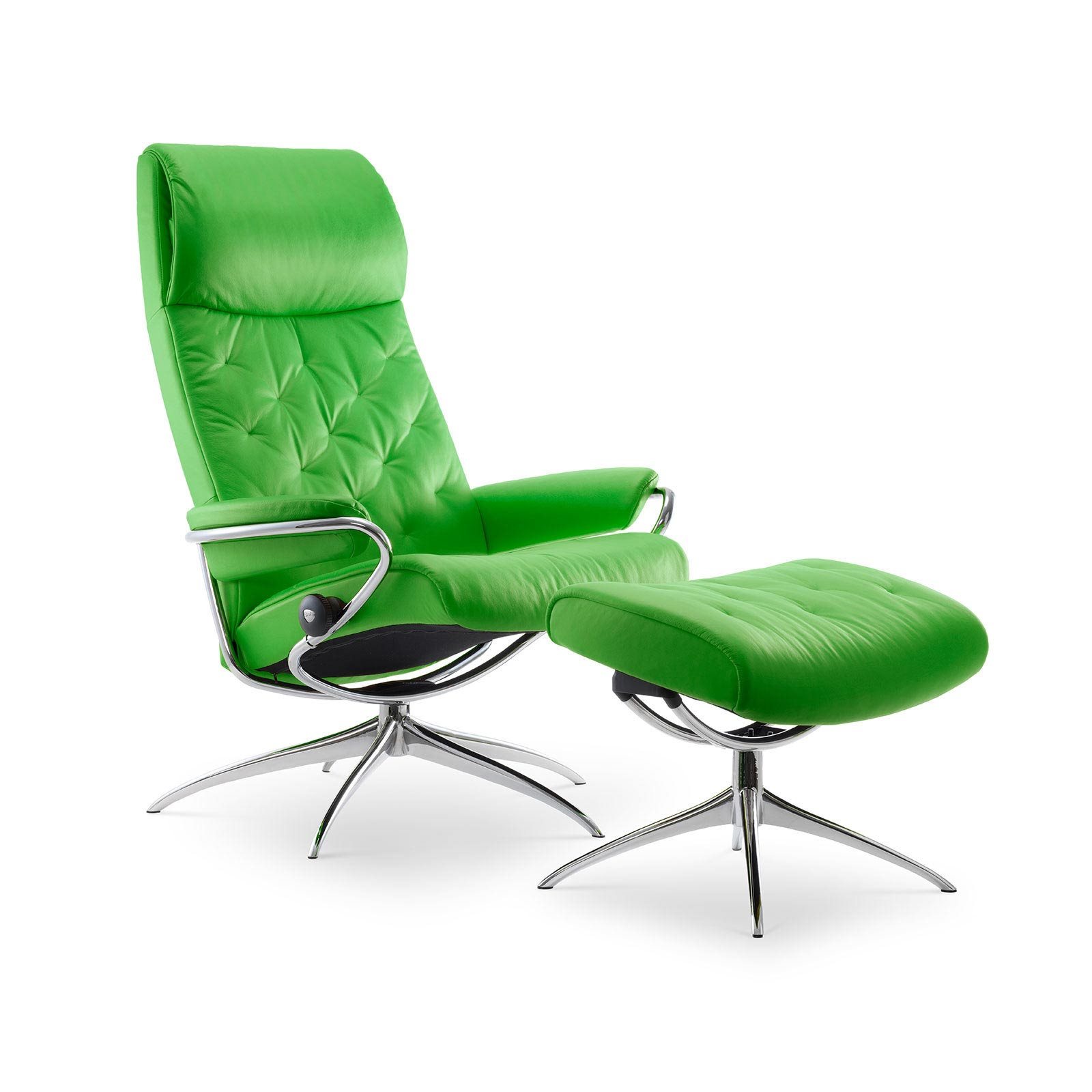 Summer Casual Geflecht Relax-sessel Stressless Metro High Back Paloma Summer Green Gestell