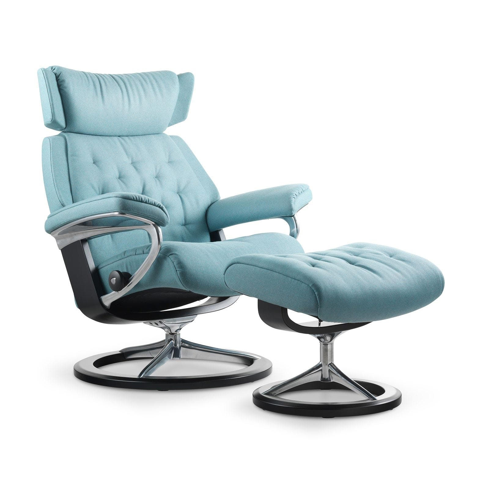Sessel Aqua Stressless Skyline Calido Aqua Signature Wenge Mit Hocker