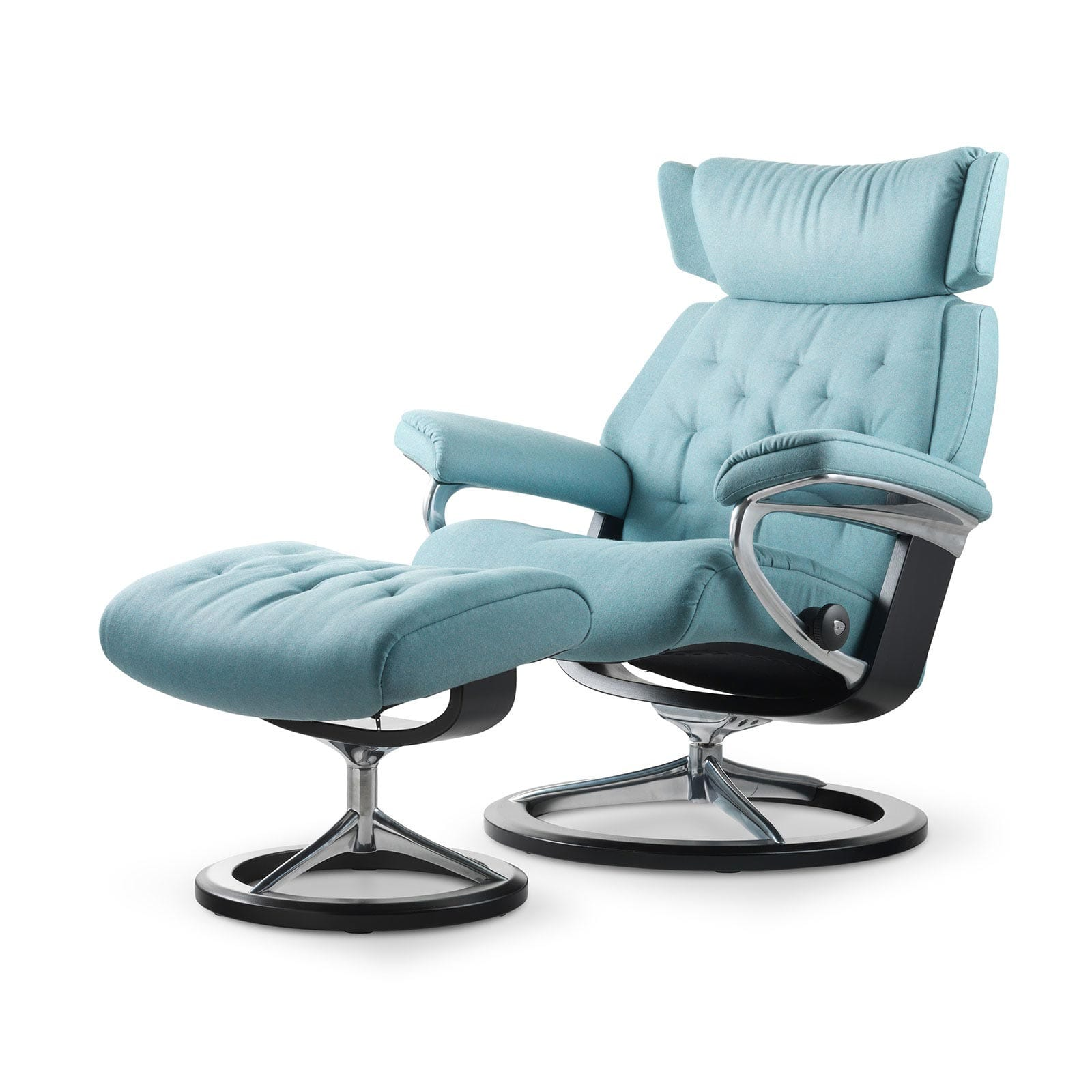 Stressless Sessel Skyline Stressless Skyline Calido Aqua Signature Wenge Mit Hocker