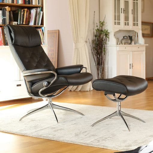 Stressless Sessel City High Back Stressless Sessel Metro High Back Paloma Black Gestell