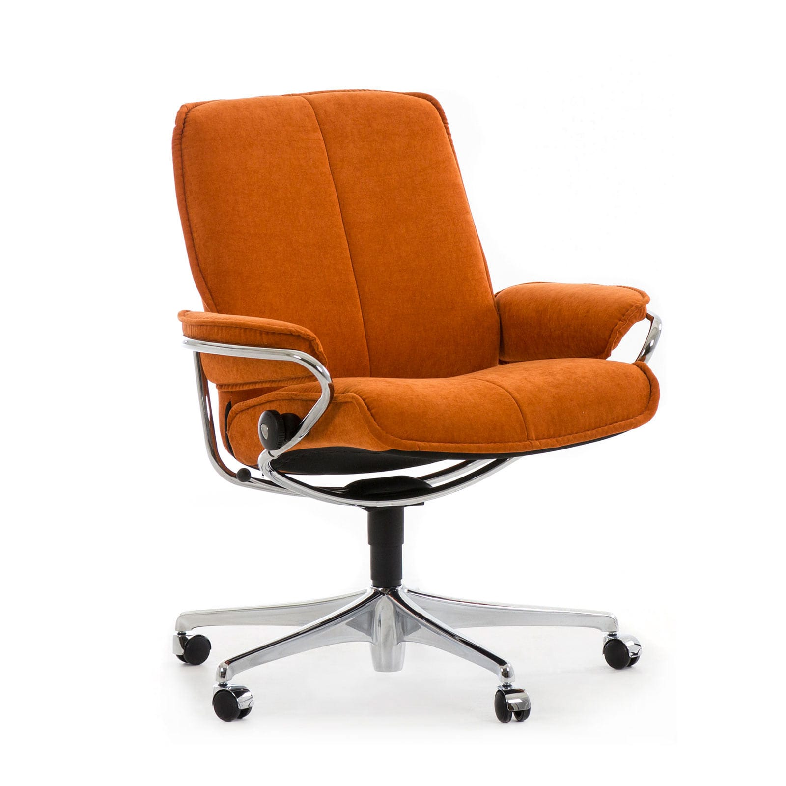 Relaxsessel Mit Rollen Stressless Sessel City Home Office Low Back Orange