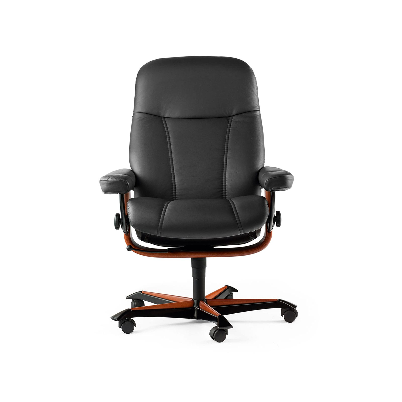 Stressless Bürostuhl Stessless Sessel Consul Home Office M Black Braun