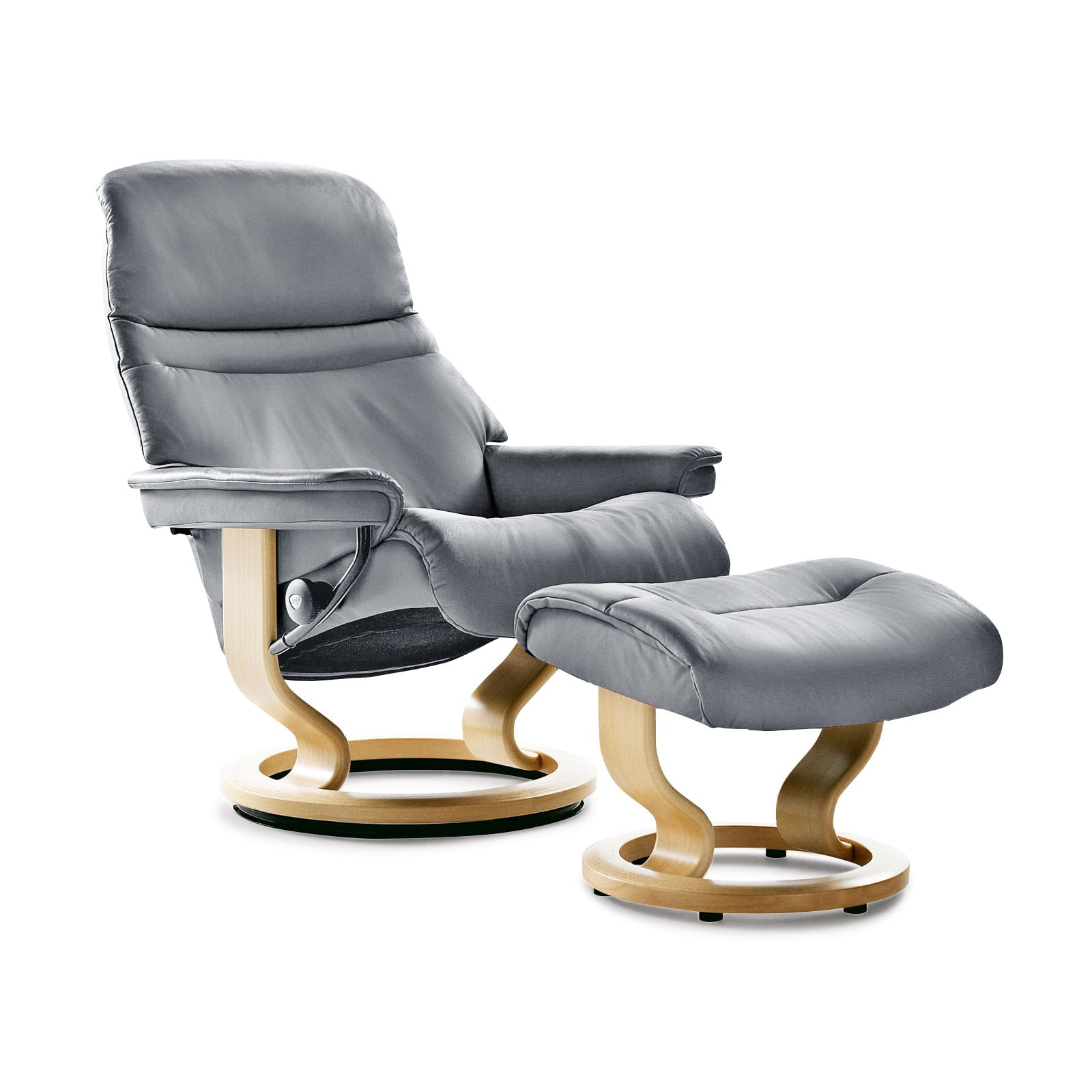 Stressless Sessel Stoffbezug Stressless Sessel Sunrise Batick Grey Mit Hocker Stressless
