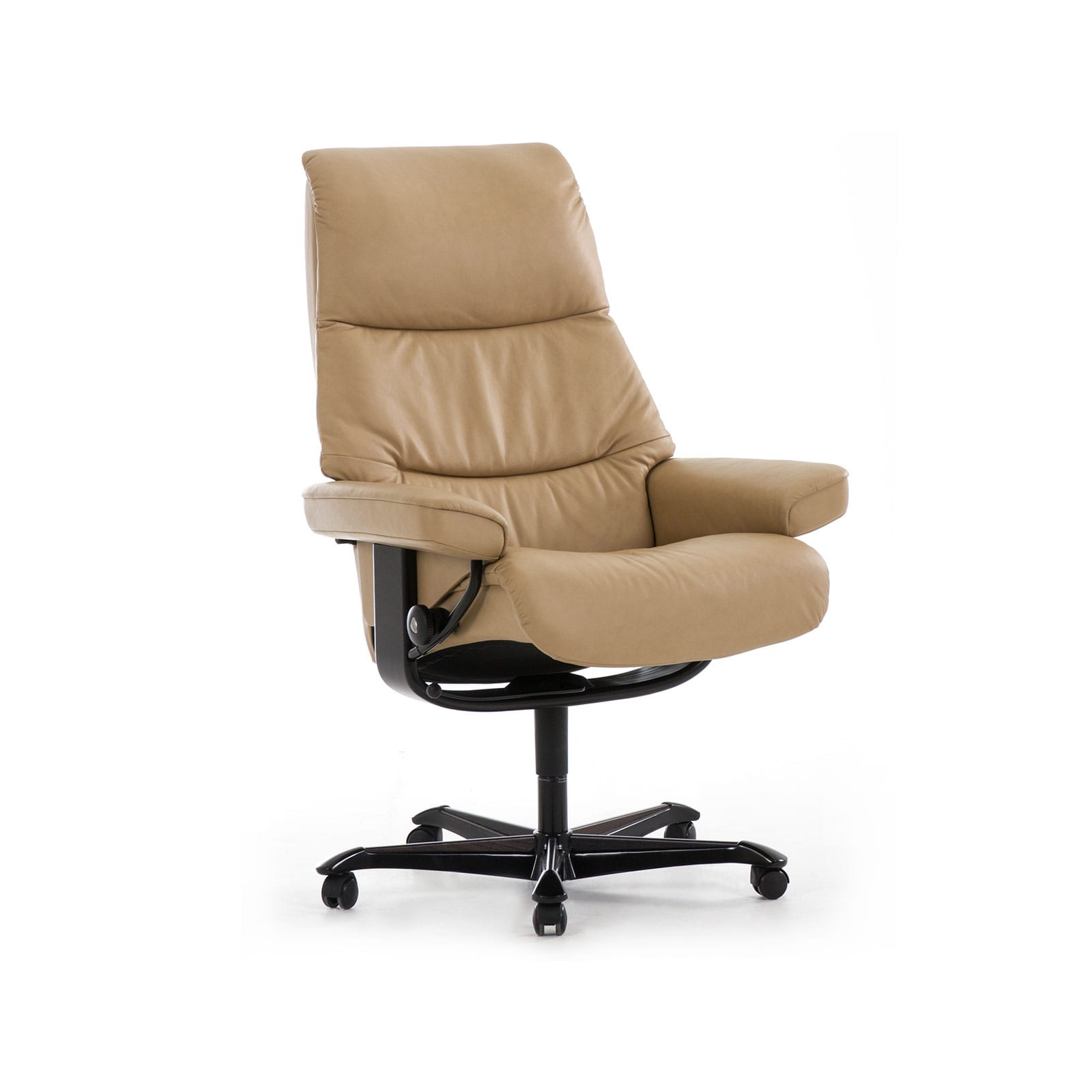 Relaxsessel Mit Rollen Stressless Sessel View Home Office Leder Cori Beige