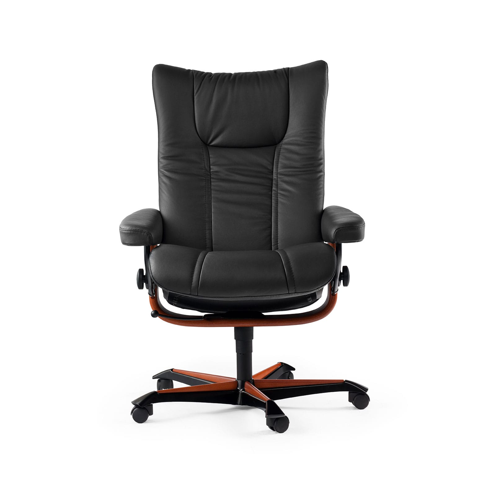 Relaxsessel Mit Rollen Stressless Sessel Wing Home Office Leder Paloma Black