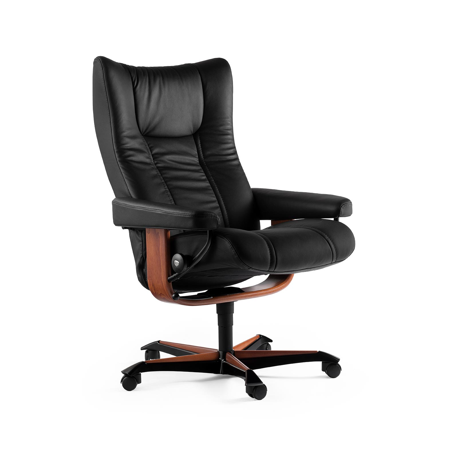 Stressless Sessel Wing Stressless Sessel Wing Home Office Leder Paloma Black
