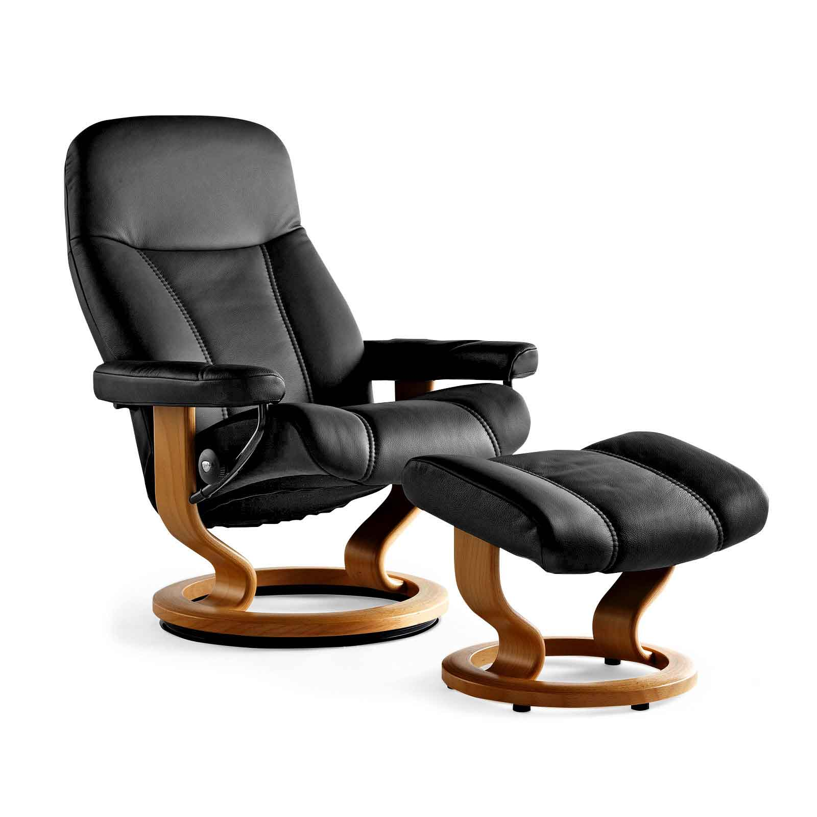 Stressless Sessel City Stressless Sessel Consul Batick Schwarz Hocker | Stressless