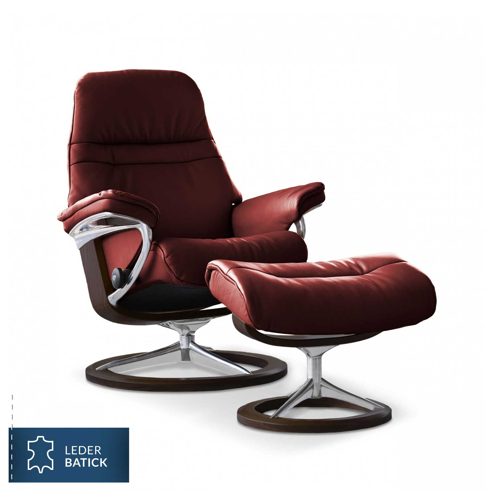 Stressless Wing Signature Sessel Stressless Sessel Sunrise Signature Batick Burgundy