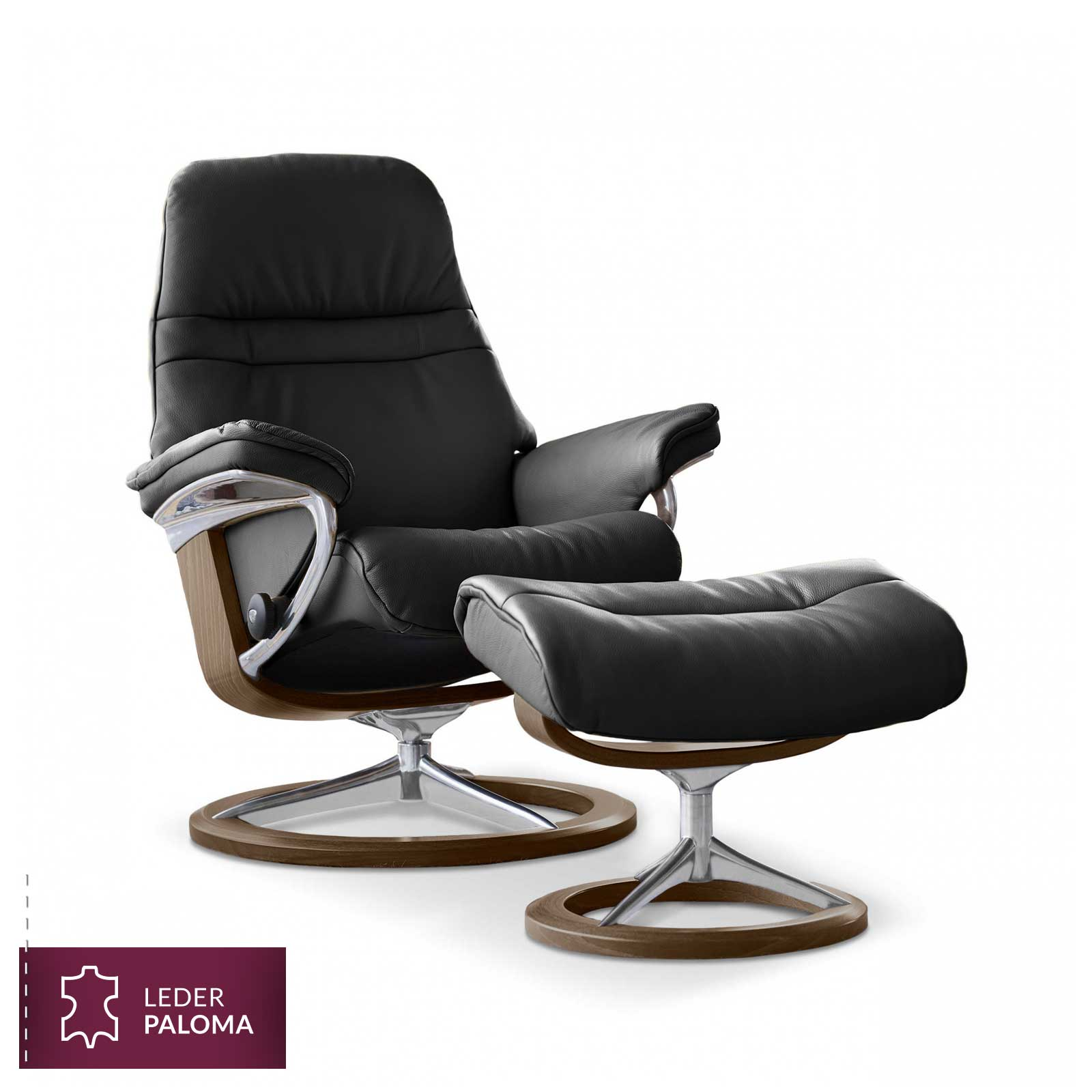 Stresless Stressless Sessel Sunrise Signature M Paloma Black Mit Hocker