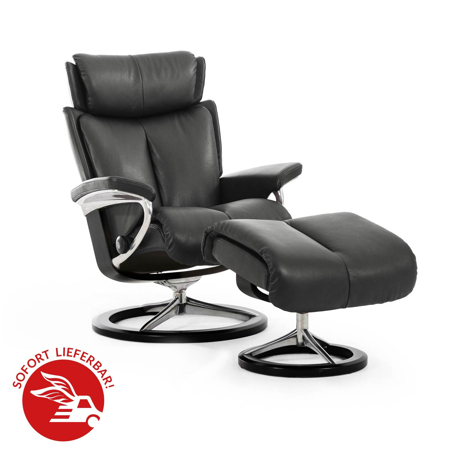 Relaxsessel Angebot Relaxsessel Stressless Magic Paloma Metalgrey Untergestell