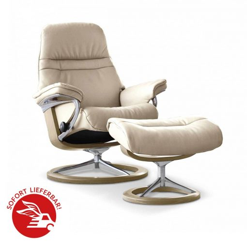 Stressless Sessel Paris Angebot: Stressless Sessel Sunrise Signature Mit Hocker Fog
