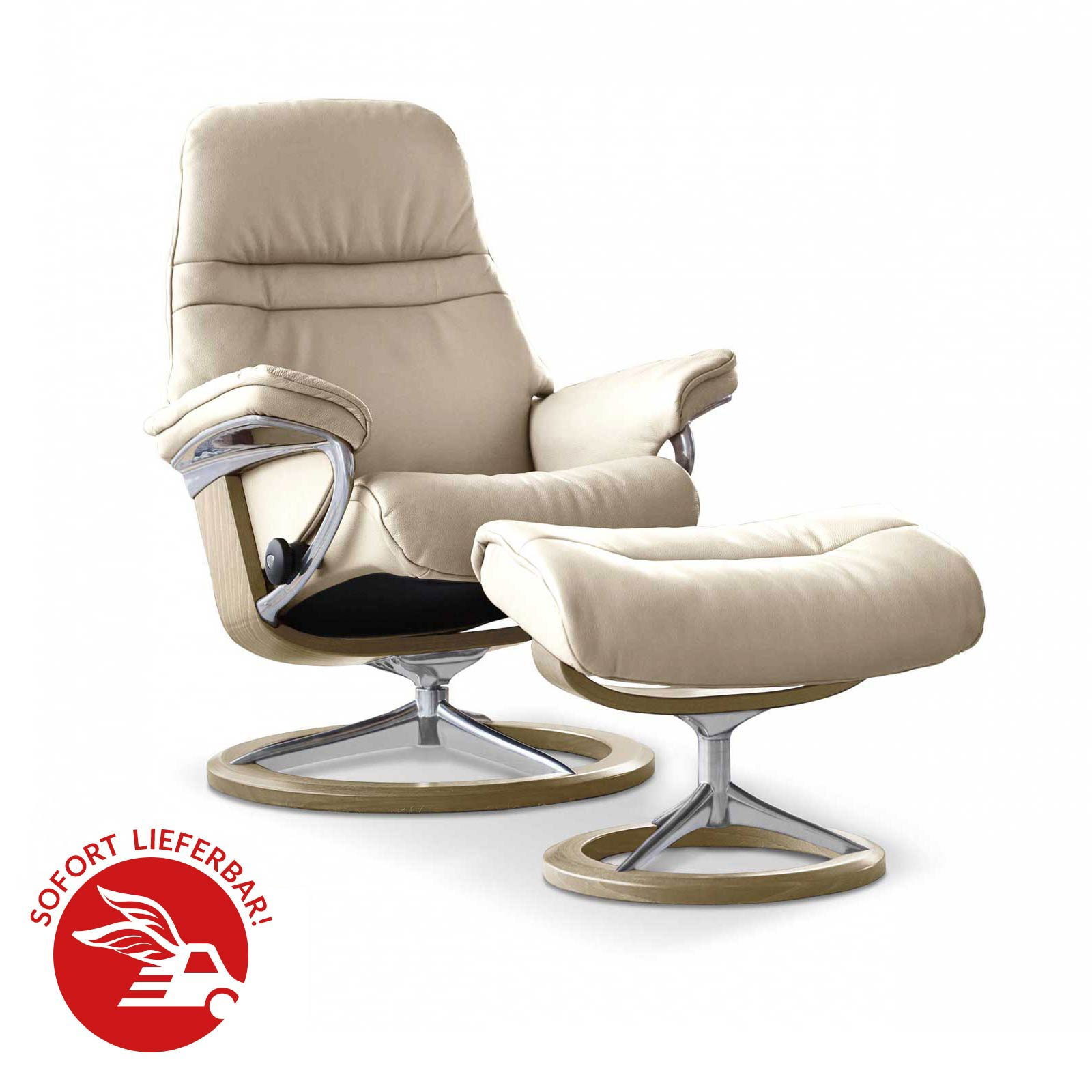 Stressless Sessel Testberichte Angebot: Stressless Sessel Sunrise Signature Mit Hocker Fog