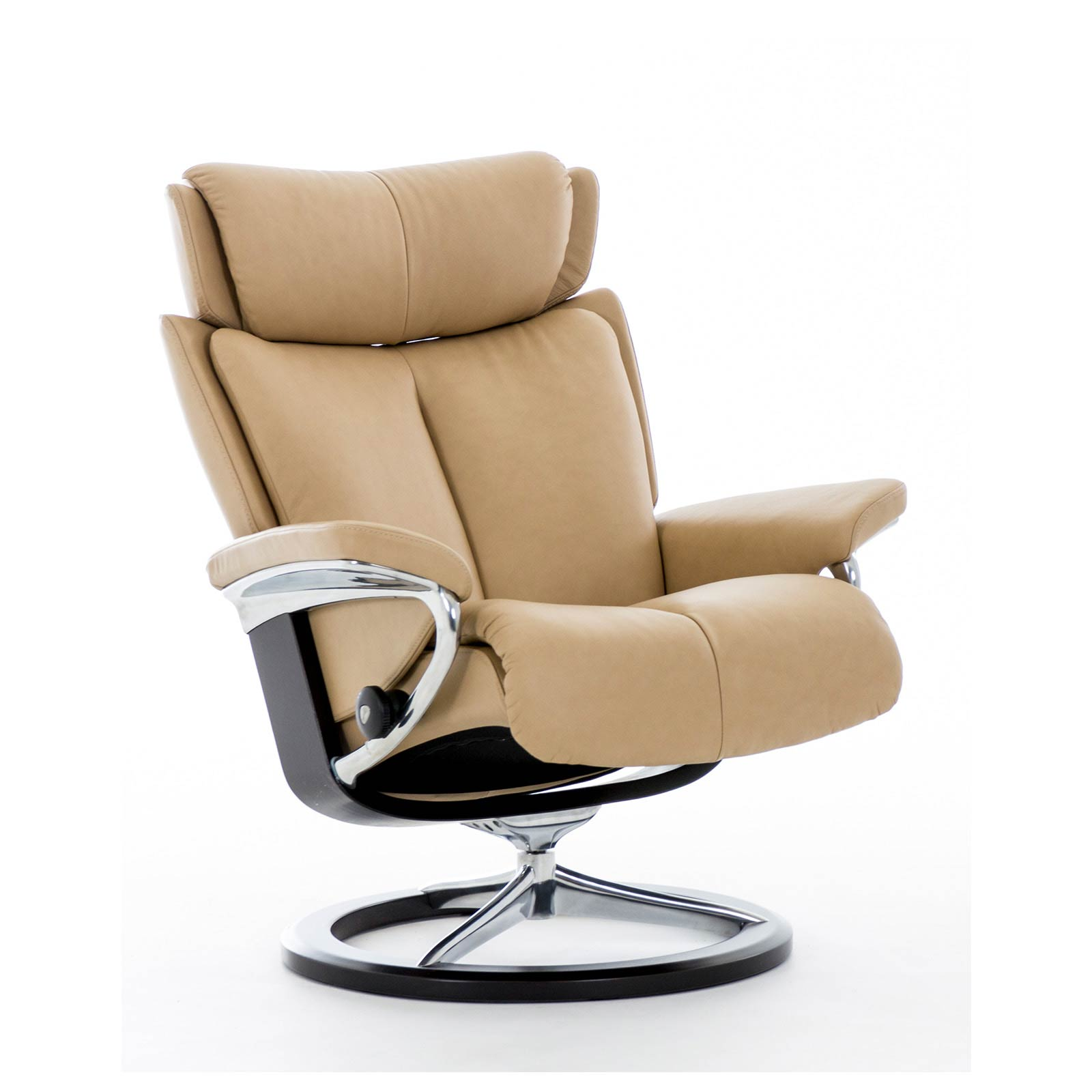 Stresless Stressless Sessel Magic M Leder Paloma Sand Gestell Signature Ohne Hocker