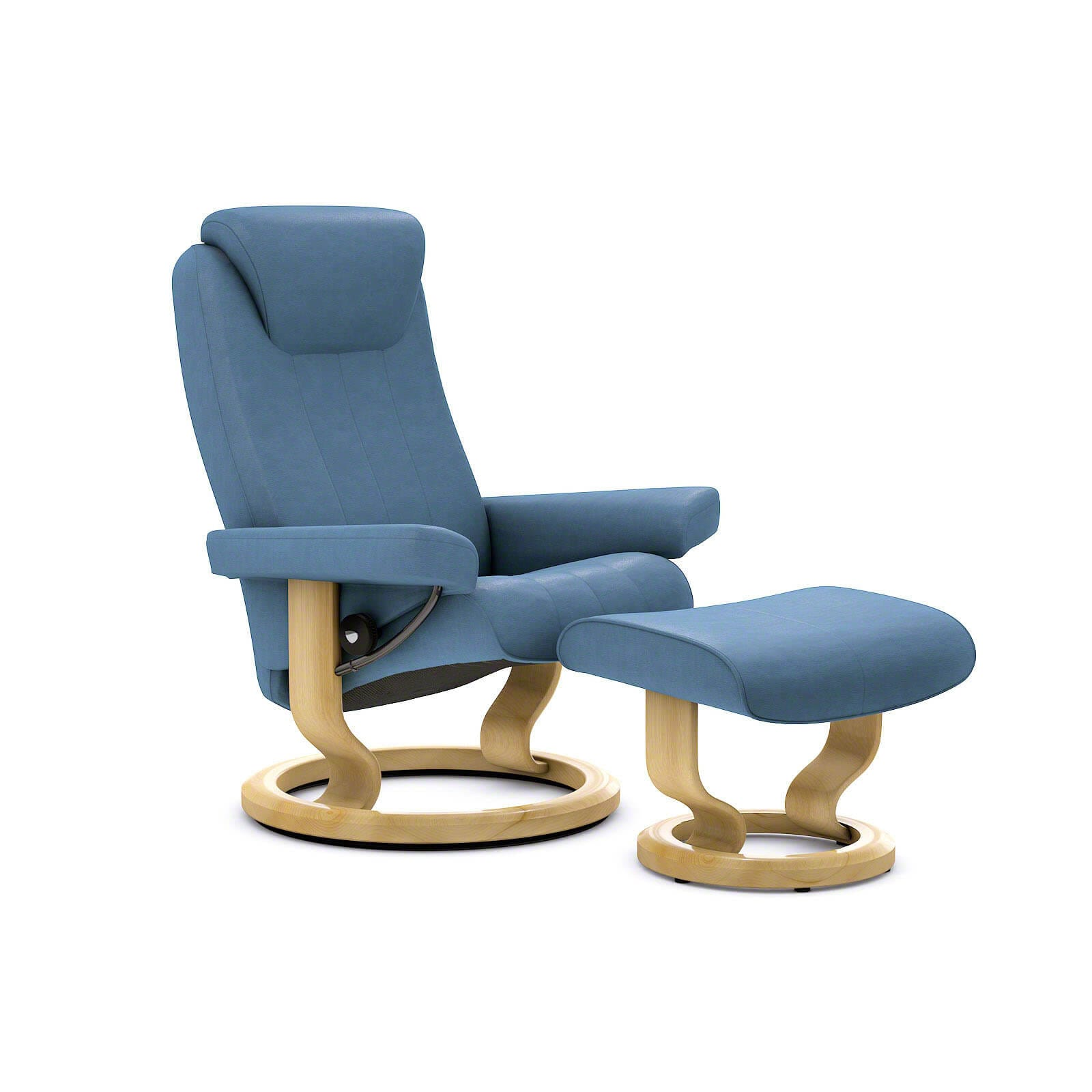 Fernsehsessel Blau Stressless Bliss Sessel Sparrow Blue Mit Hocker Stressless