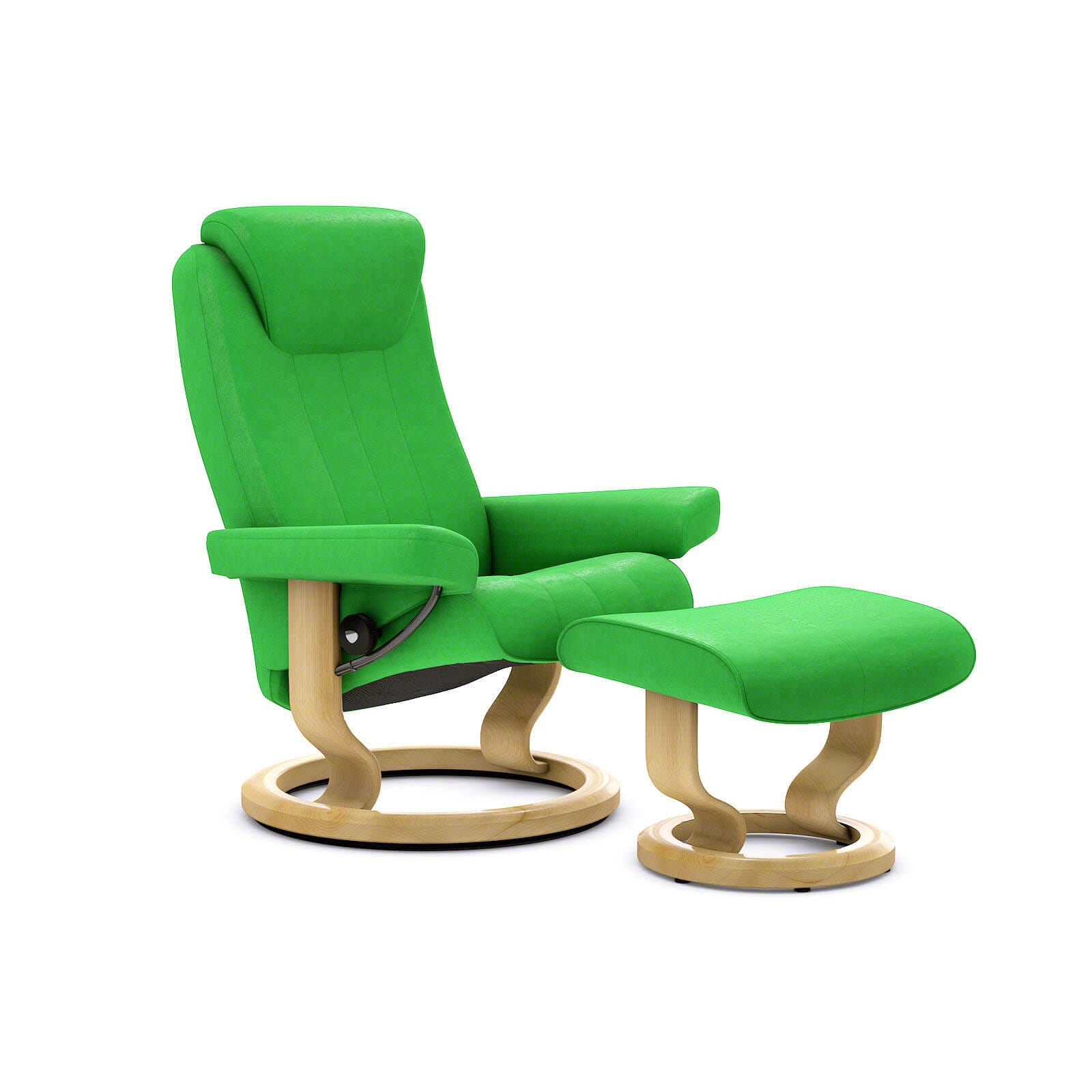 Summer Casual Geflecht Relax-sessel Stressless Bliss Sessel Paloma Summer Green Mit Hocker