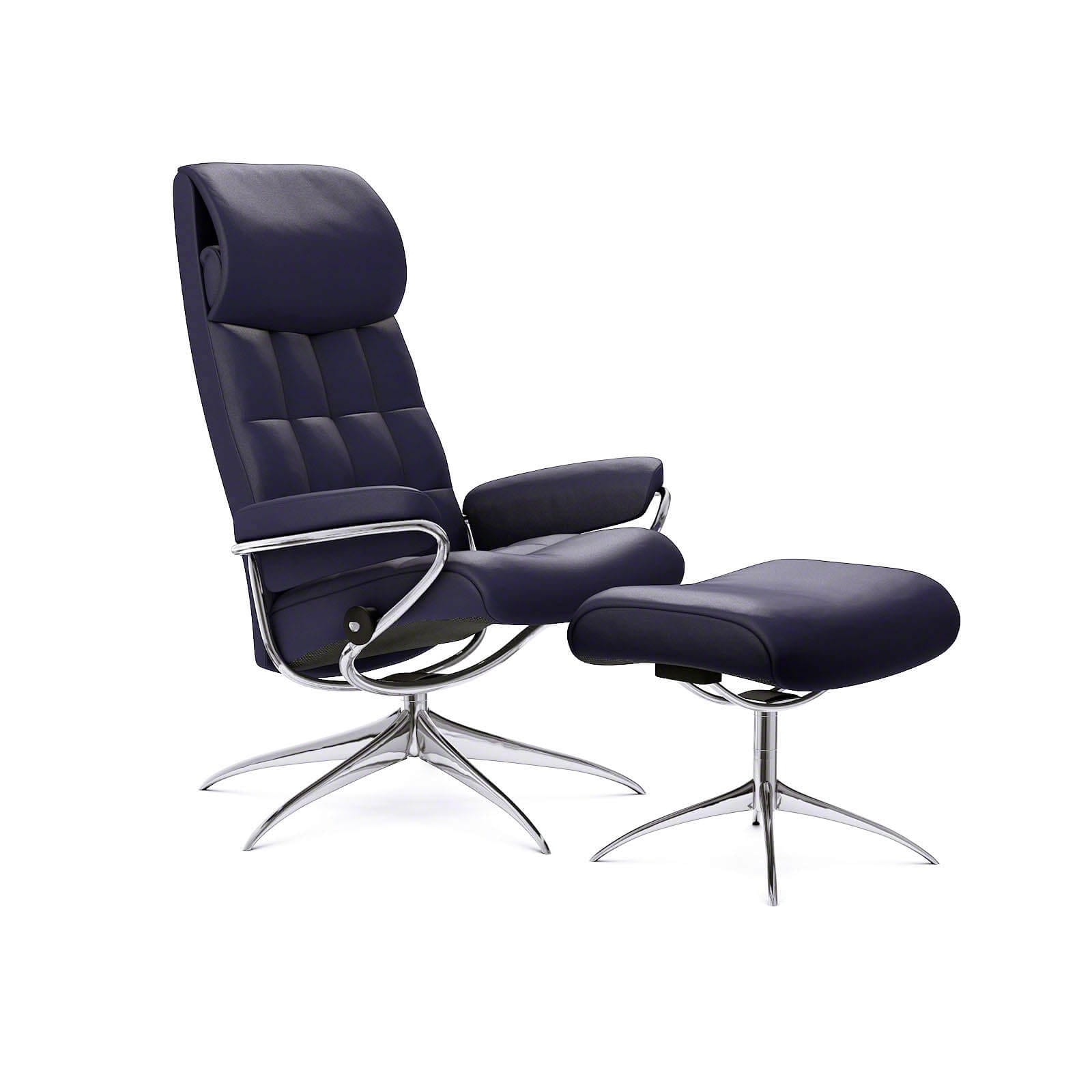Stressless Lederfarben Stressless Sessel London Hohe Lehne Paloma Indigo