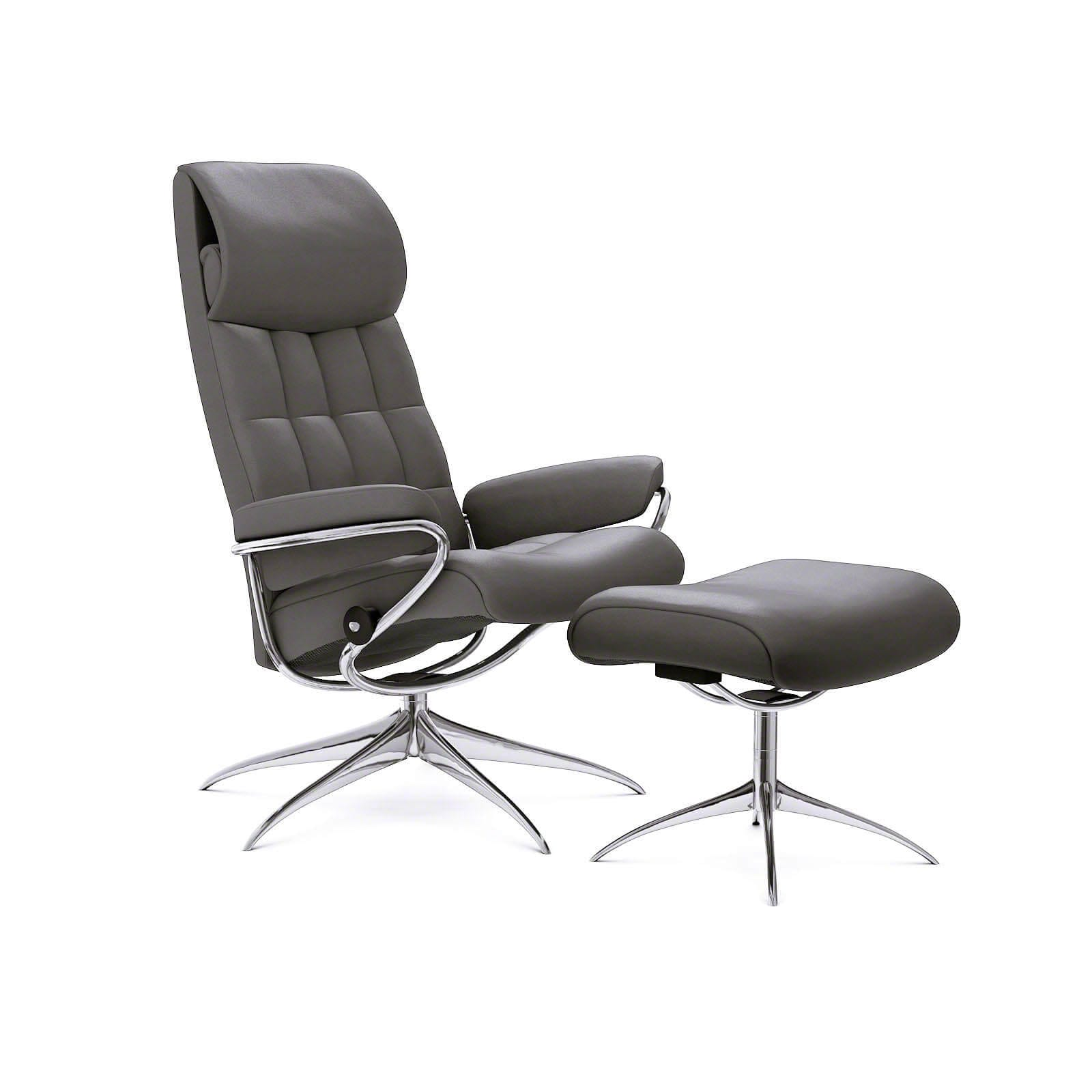 Stressless Sessel City Stressless London Sessel Mit Hoher Lehne Paloma Metal Grey