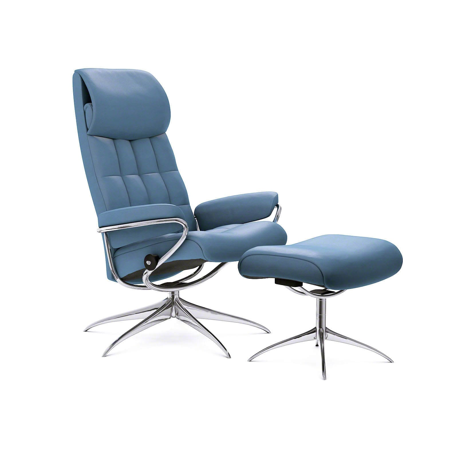 Stressless Sessel City Stressless London Sessel Mit Hoher Lehne Paloma Sparrow Blue