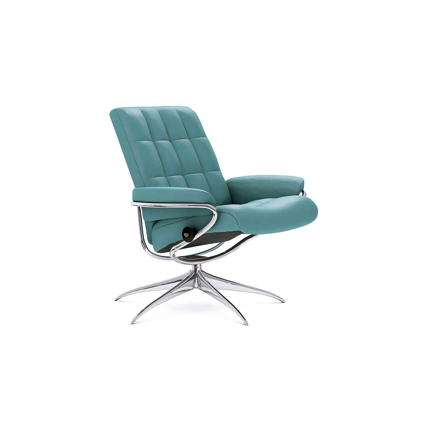 Sessel Aqua Stressless London Mit Niedriger Lehne Lederfarbe Aqua Green