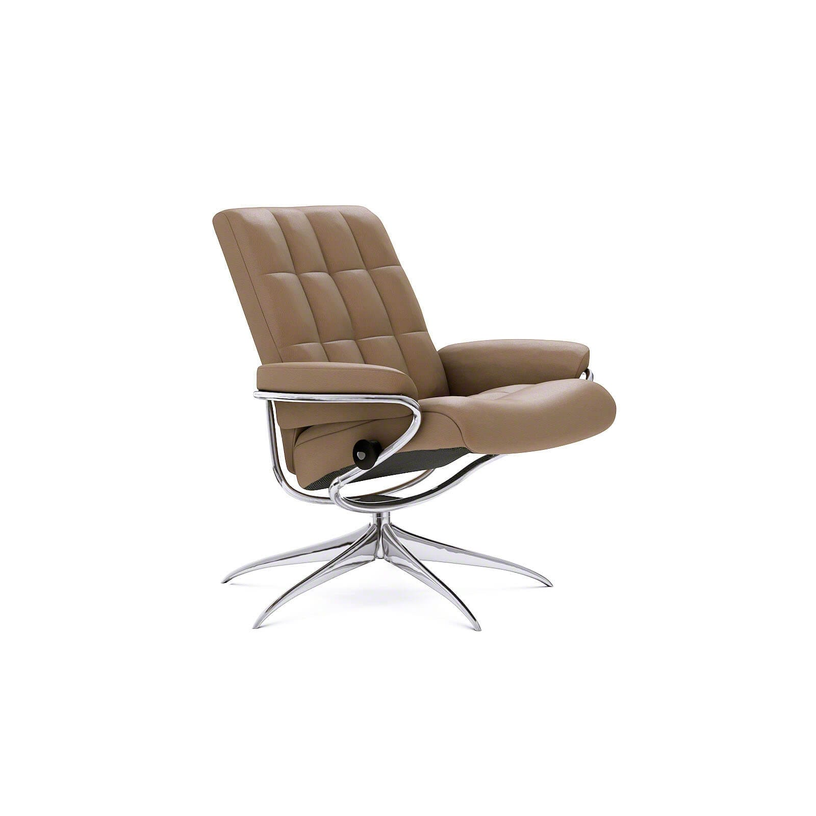 Summer Casual Geflecht Relax-sessel Stressless London Sessel Mit Niedriger Lehne Lederfarbe Funghi