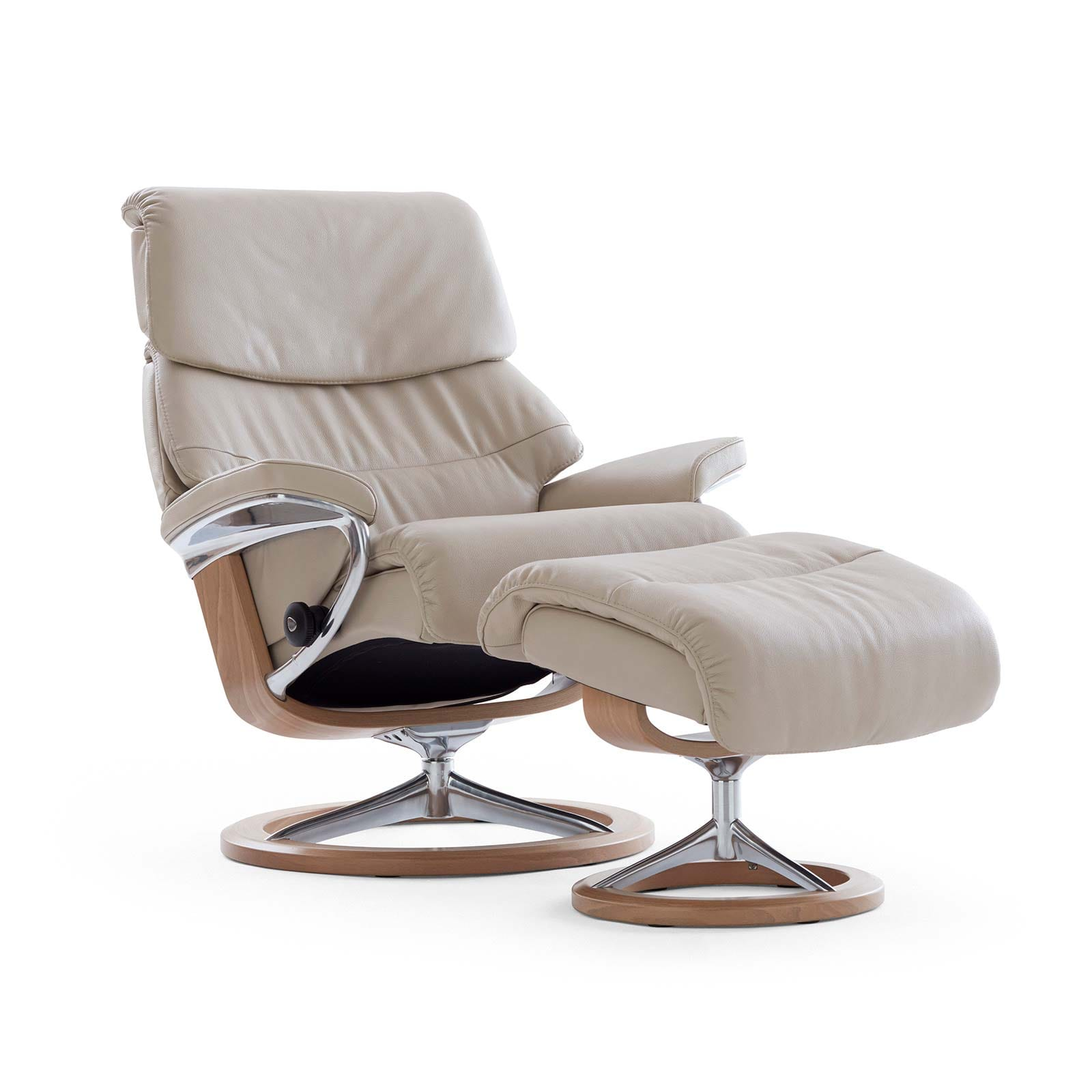 Sessel M Stressless Sessel Capri Light Grey Paloma Signature Natur Ohne Hocker M
