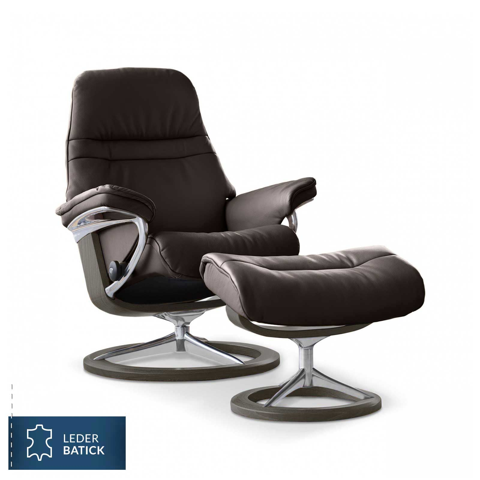 Stressless Sessel Stressless Sunrise Batick Braun Signature Hocker Stressless