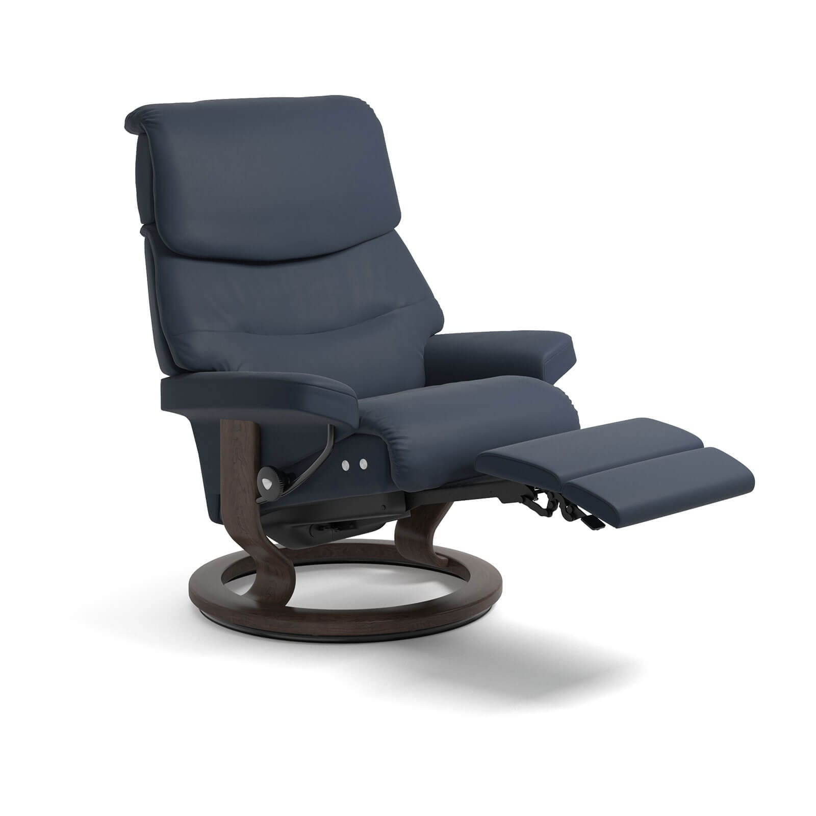 Stressless Sessel Berlin Stressless Capri Legcomfort Paloma Oxford Blue Stressless