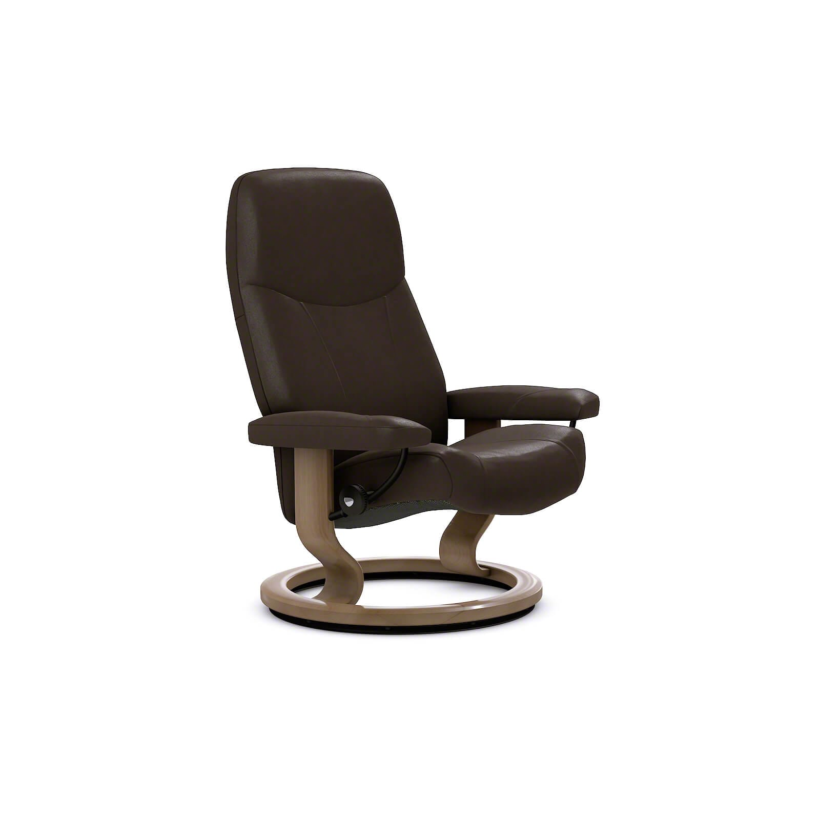 Ledersessel Mit Hocker Stressless Sessel Consul Classic Leder Batick Brown Ohne Hocker