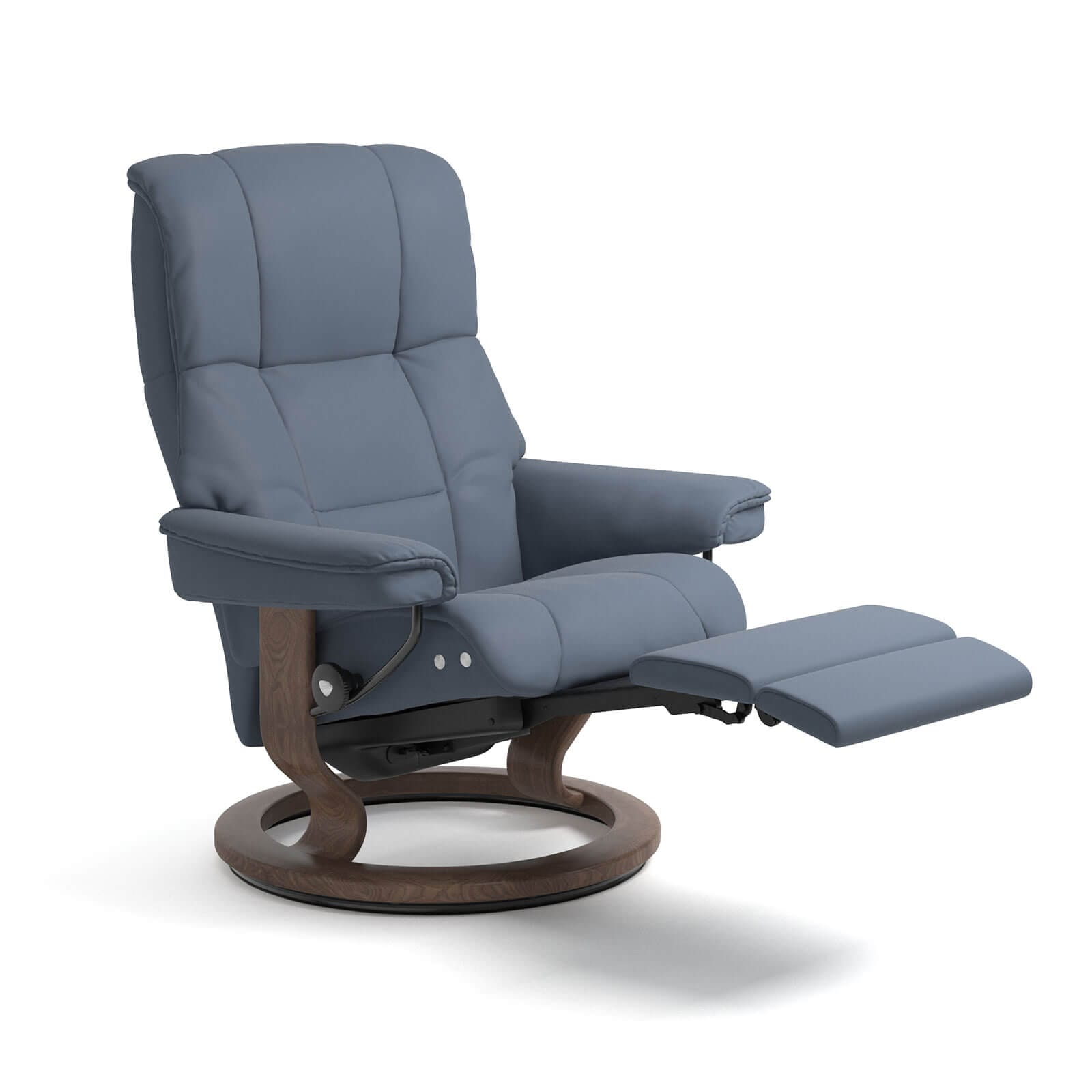 Relaxsessel Blau Stressless Sessel Mayfair Legcomfort Leder Paloma In Sparrow Blue Gestell Walnuss