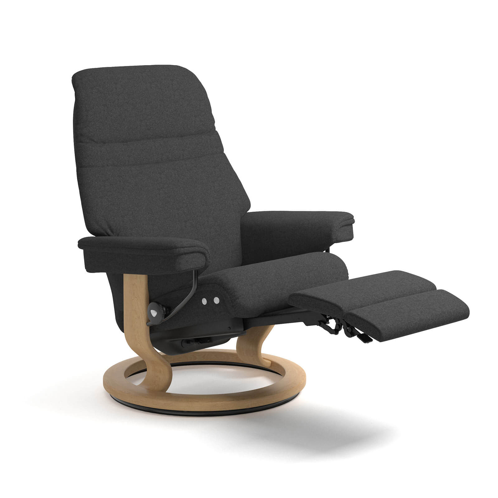 Relaxsessel Mit Stoffbezug Stressless Sessel Sunrise Legcomfort Stoff Calido In Dark Grey Gestell Natur