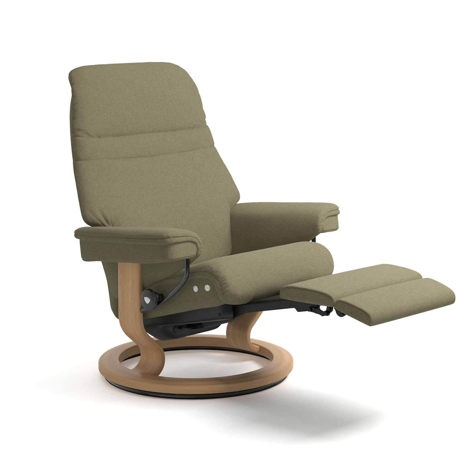 Stressless Sessel Stoff Stressless Sunrise Legcomfort Calido Light Green Stressless