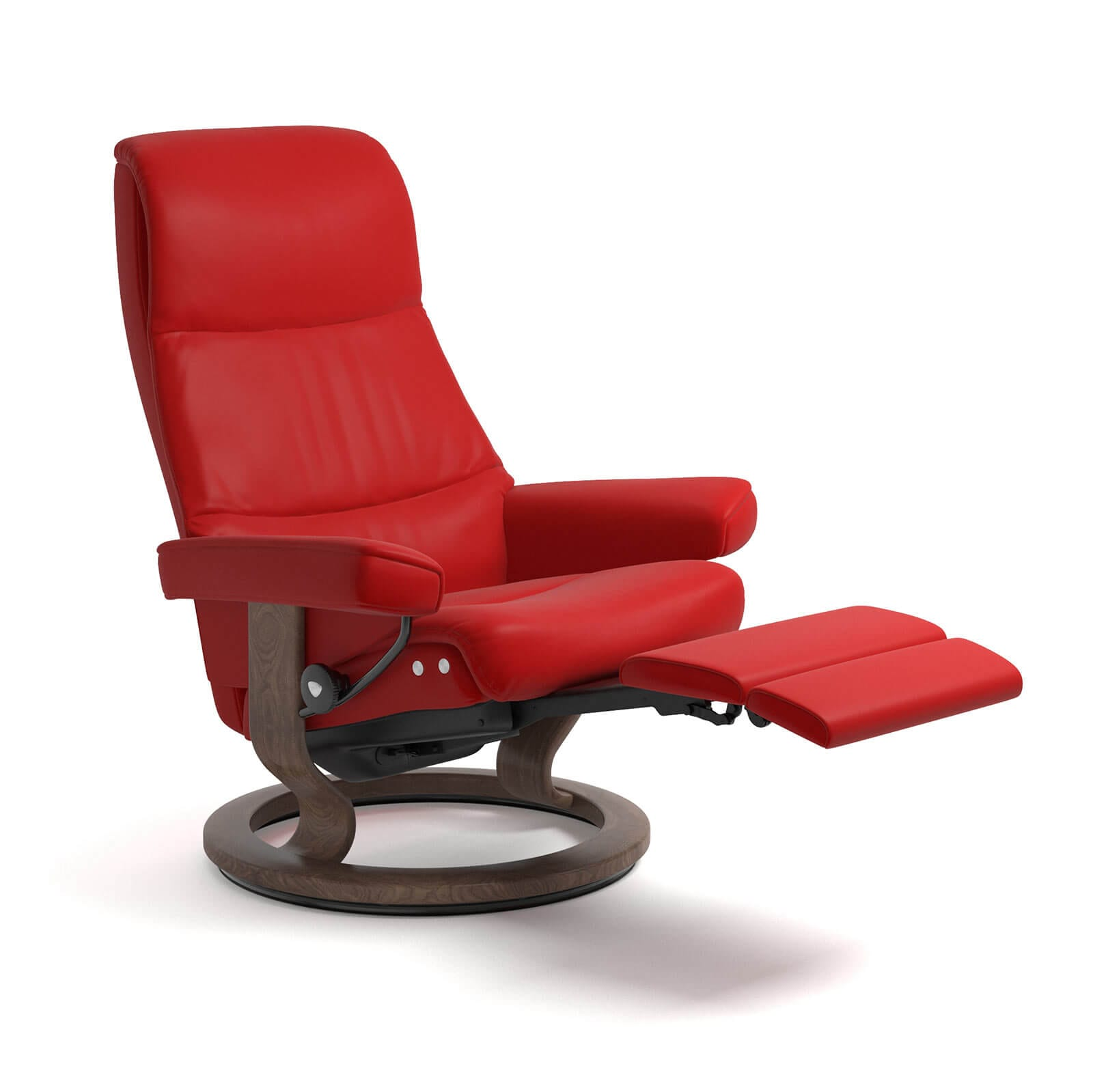 Relaxsessel Mit Liegefunktion Stressless Sessel View Legcomfort Leder Batick In Chilli Red Gestell Walnuss