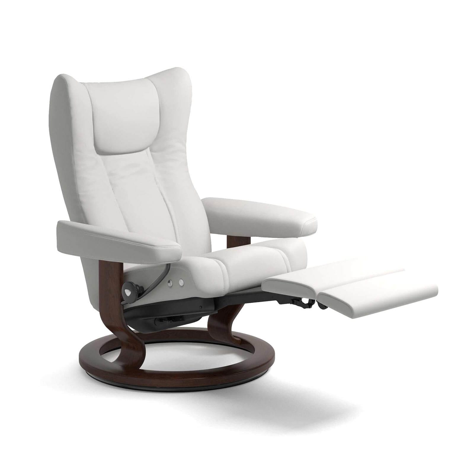 Stressless Sessel Berlin Stressless Sessel Wing Legcomfort Leder Batick Snow