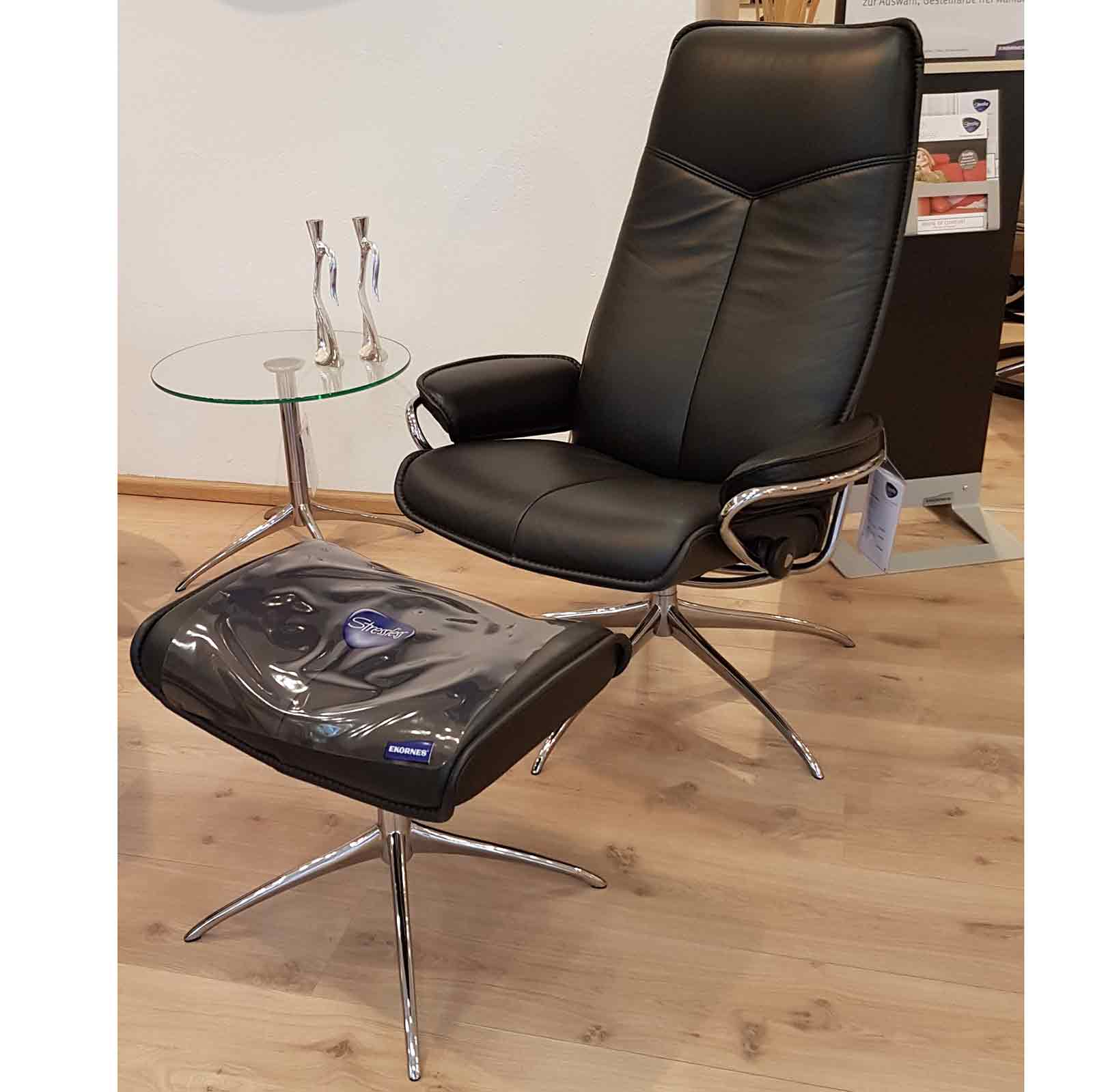 Stressless Sessel Skyline Stressless Sessel City High Back Ohne Hocker Black Chrom