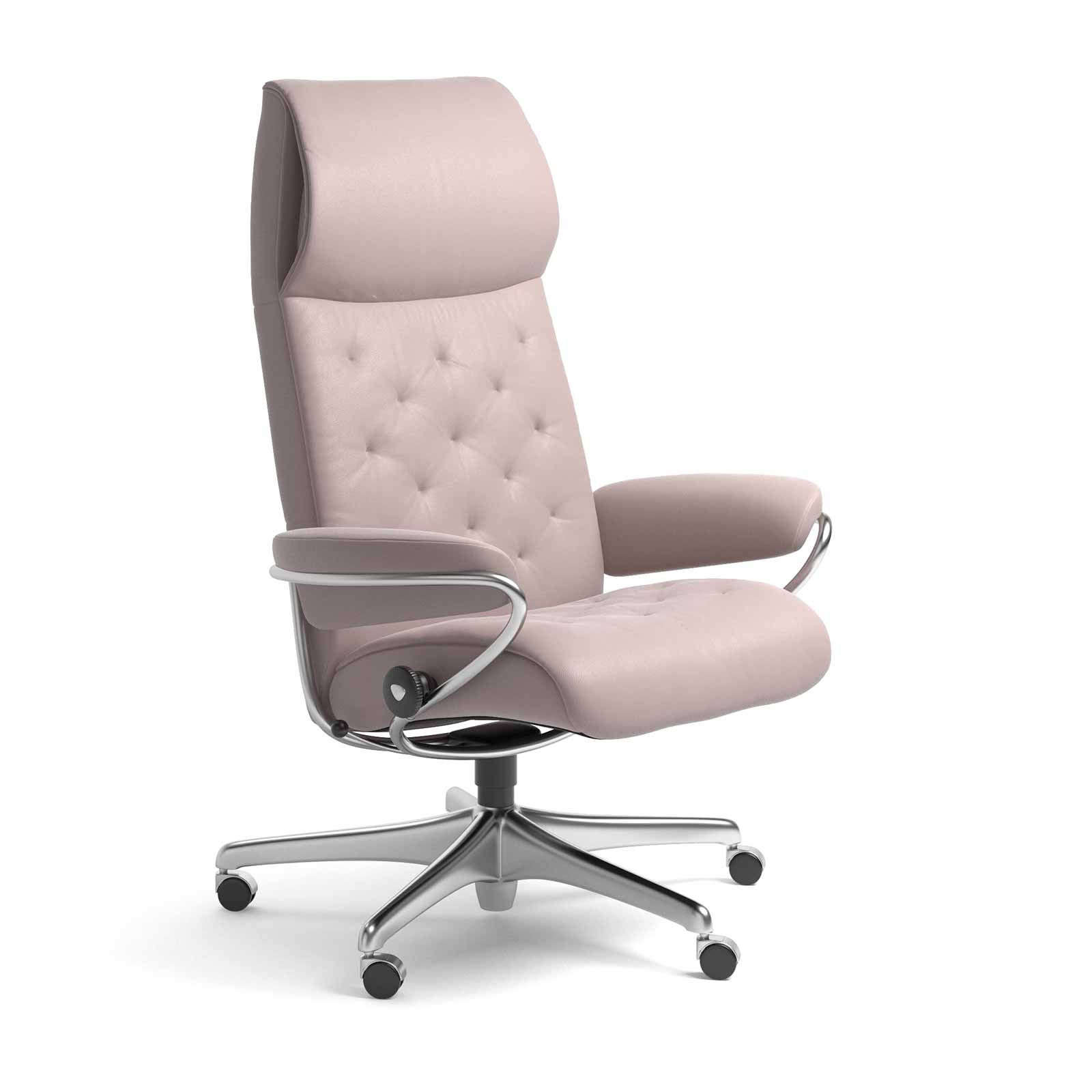 Stressless Sessel Metro Stressless Sessel Metro Home Office High Back Leder Batick Smoke Rose