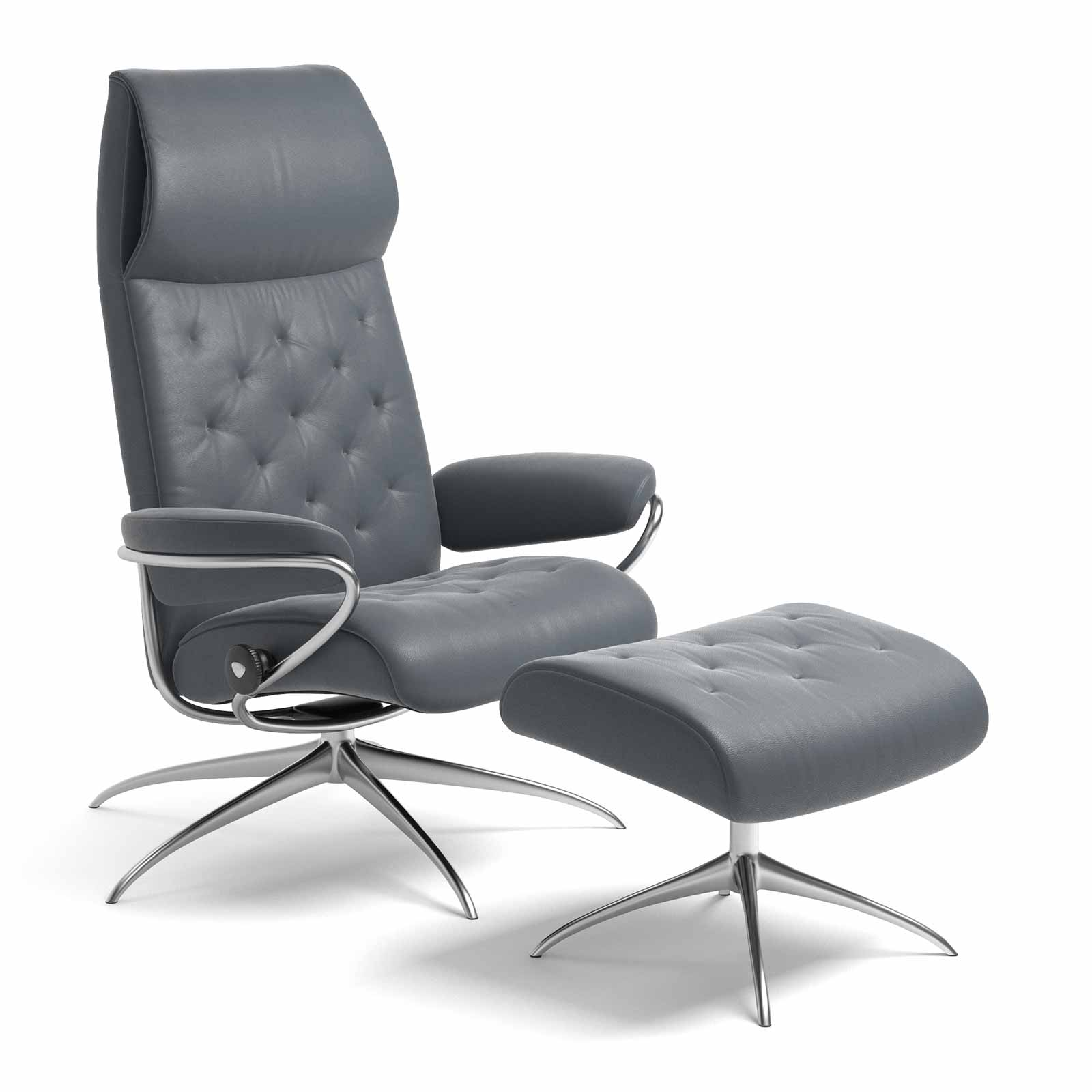 Stressless Metro Sessel Stressless Metro High Back Batick Atlantic Blue Mit Hocker