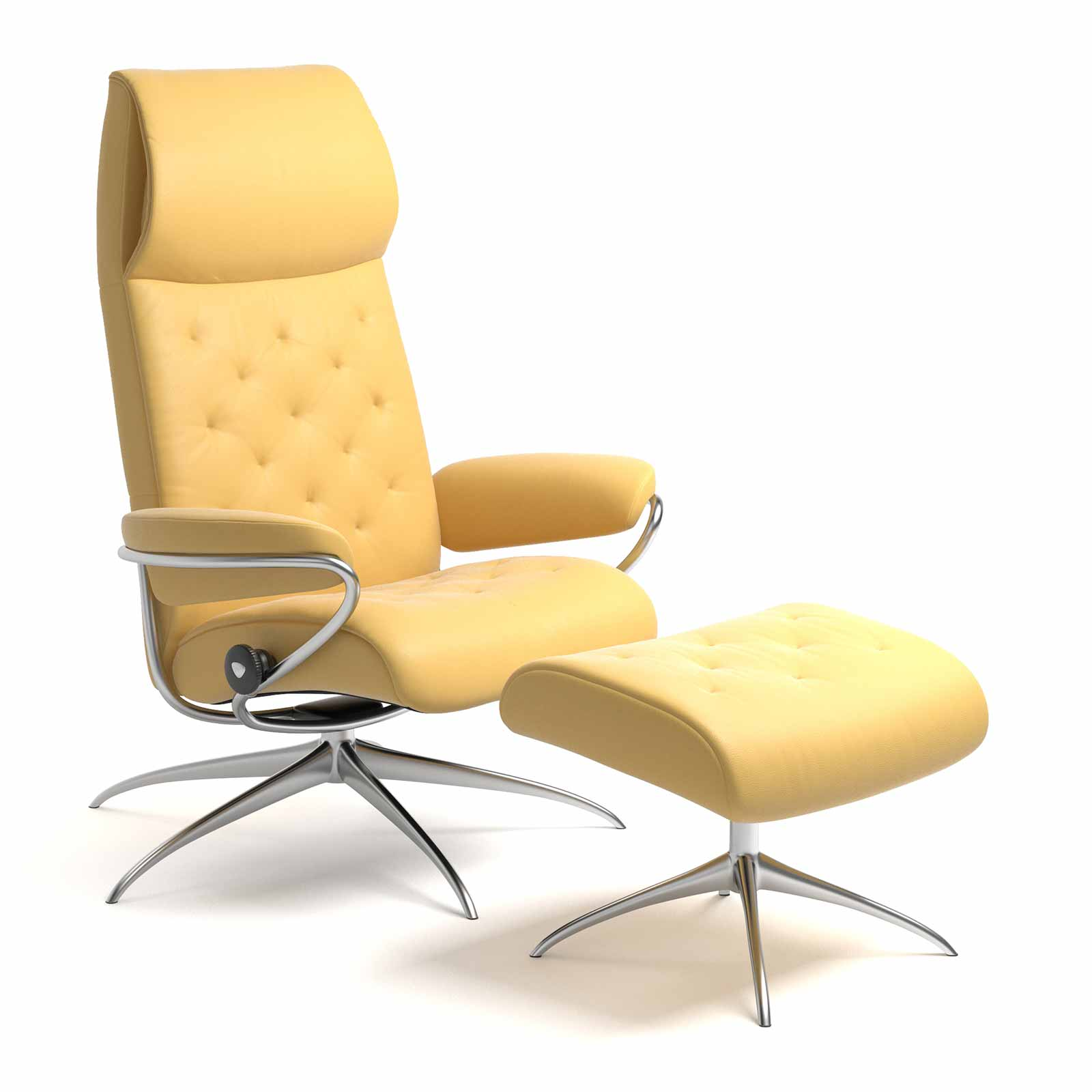 Stressless Sessel City High Back Stressless Metro High Back Batick Mimosa Mit Hocker