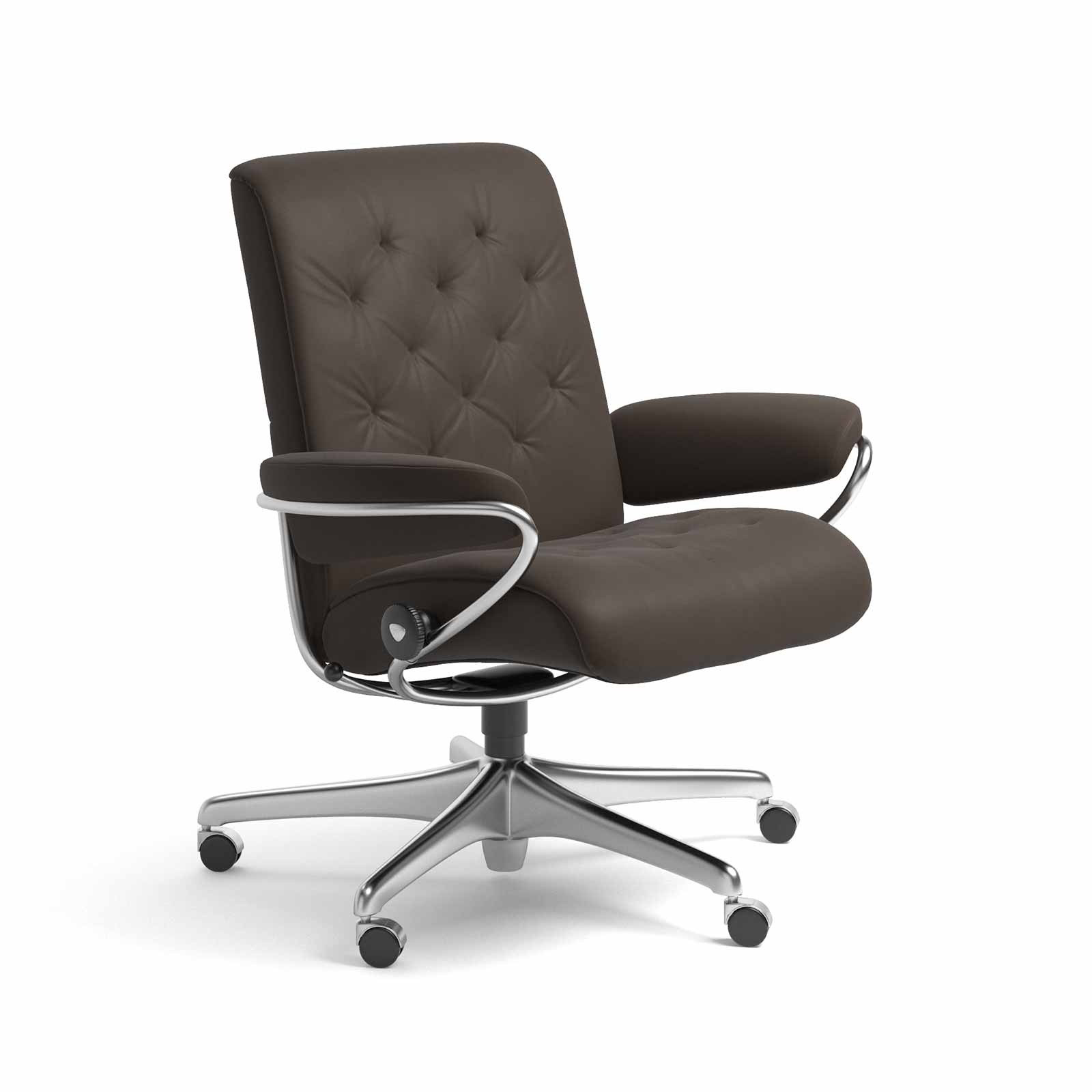 Stressless Sessel Montage Stressless Sessel Metro Home Office Low Back Leder Batick Braun