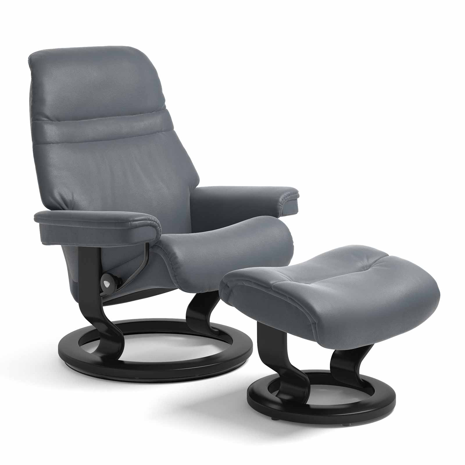 Stressless Sessel Sunrise.html Stressless Sessel Sunrise Classic Leder Batick Atlantic Blue Mit Hocker