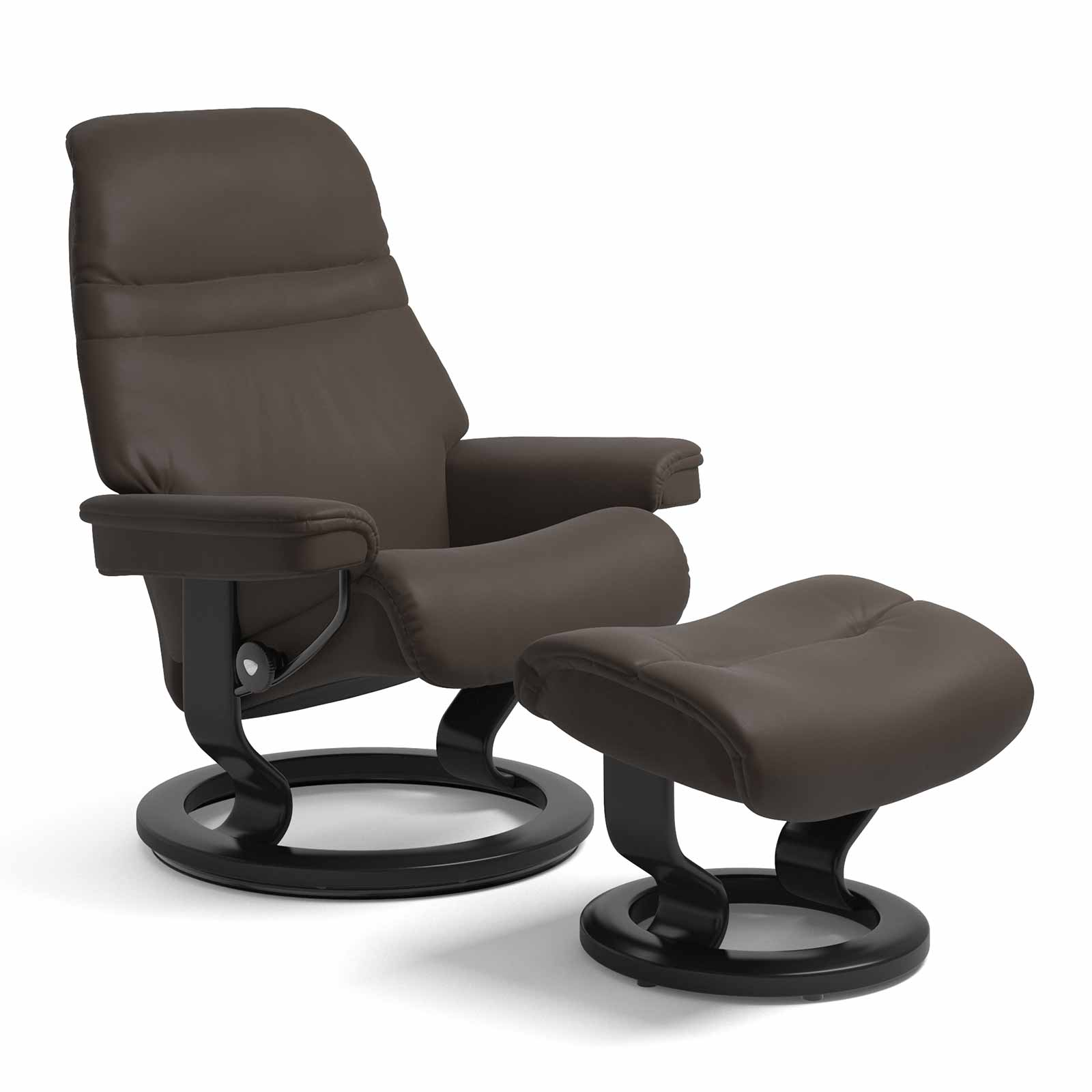 Hocker Leder Stressless Sessel Sunrise Classic Leder Batick Braun Mit Hocker