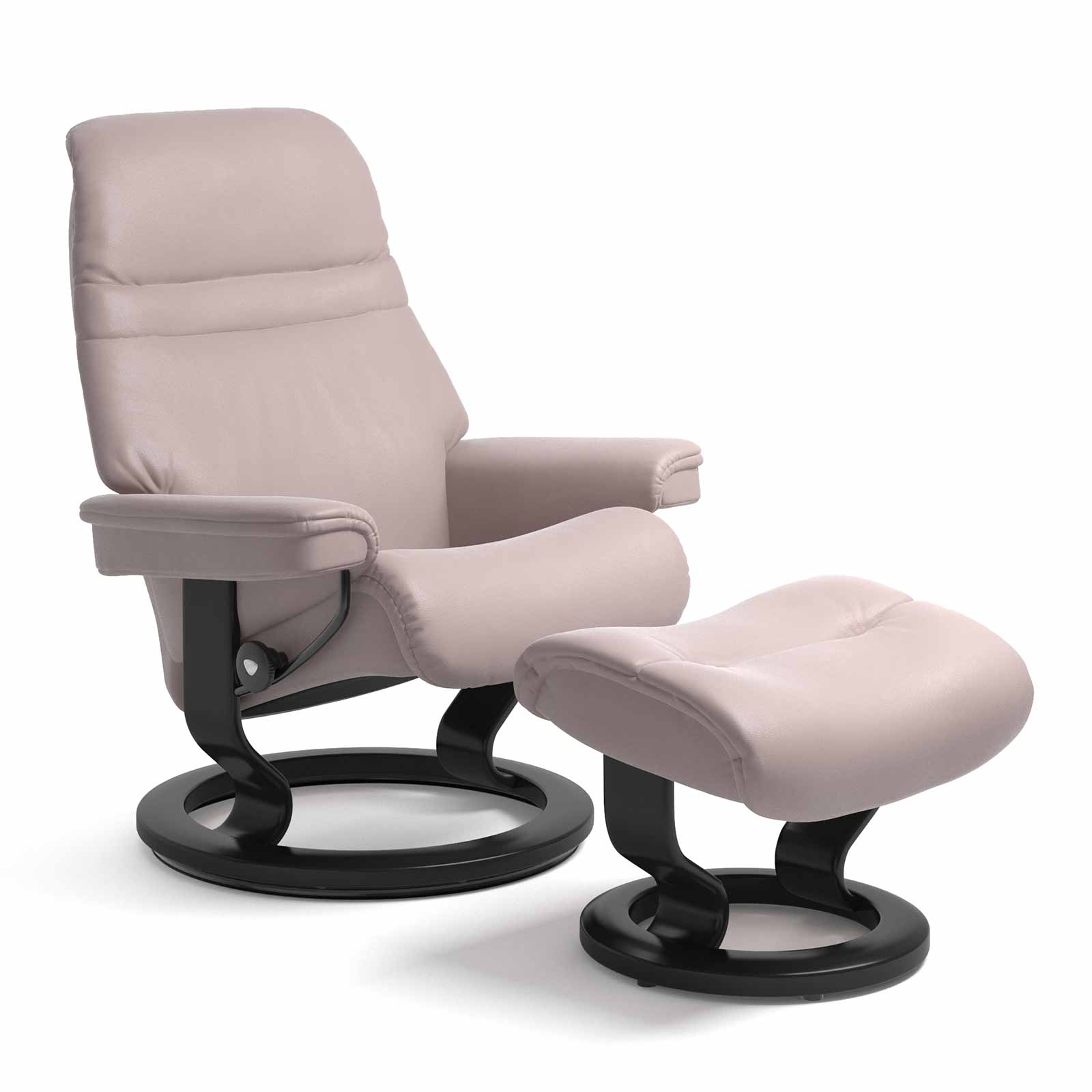 Stressless Sessel Inkl. Hocker Modell Sunrise (m) Classic Stressless Sessel Sunrise Classic Leder Batick Smoke Rose Mit Hocker