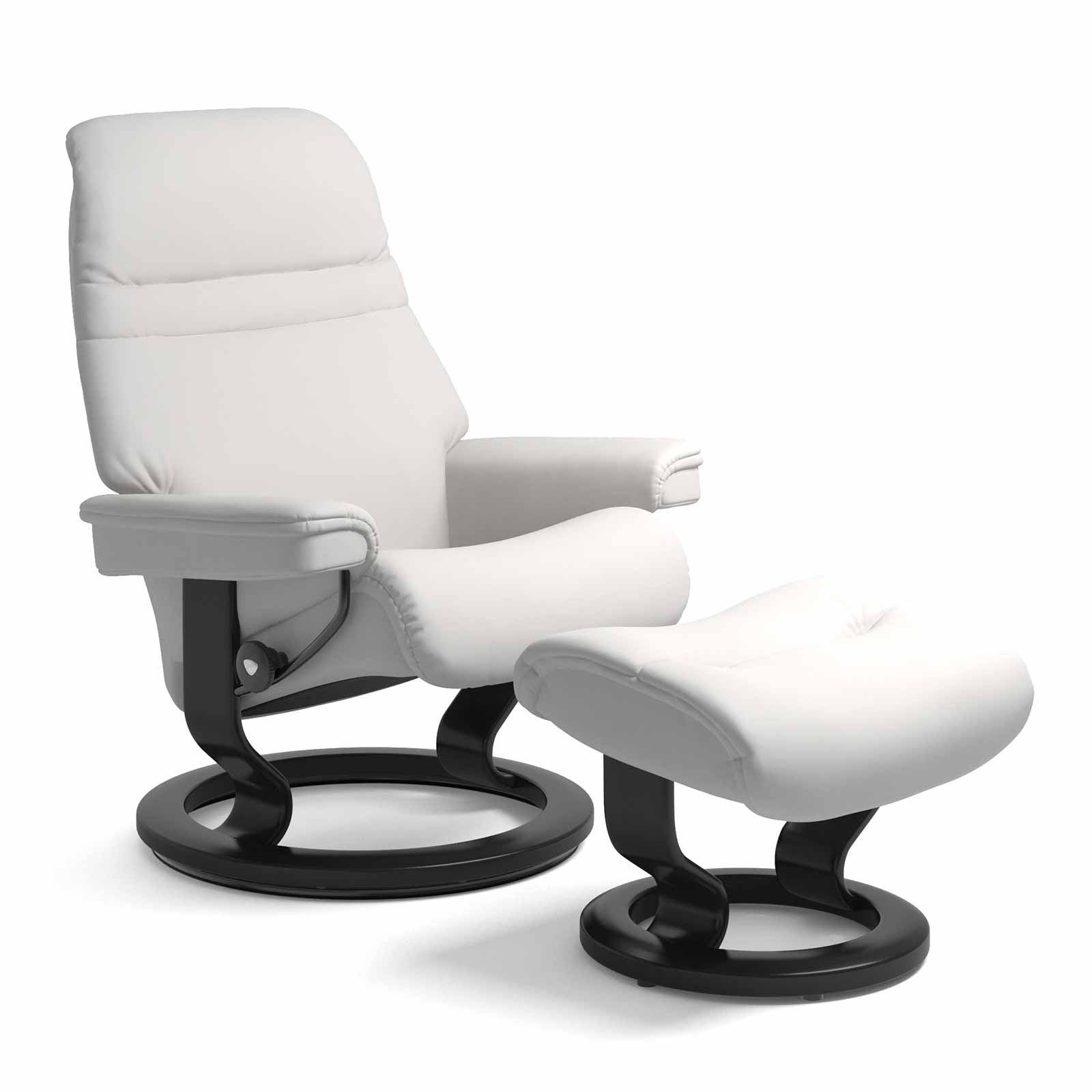 Stressless Sessel Sunrise.html Stressless Sessel Sunrise Classic Leder Batick Snow Mit Hocker