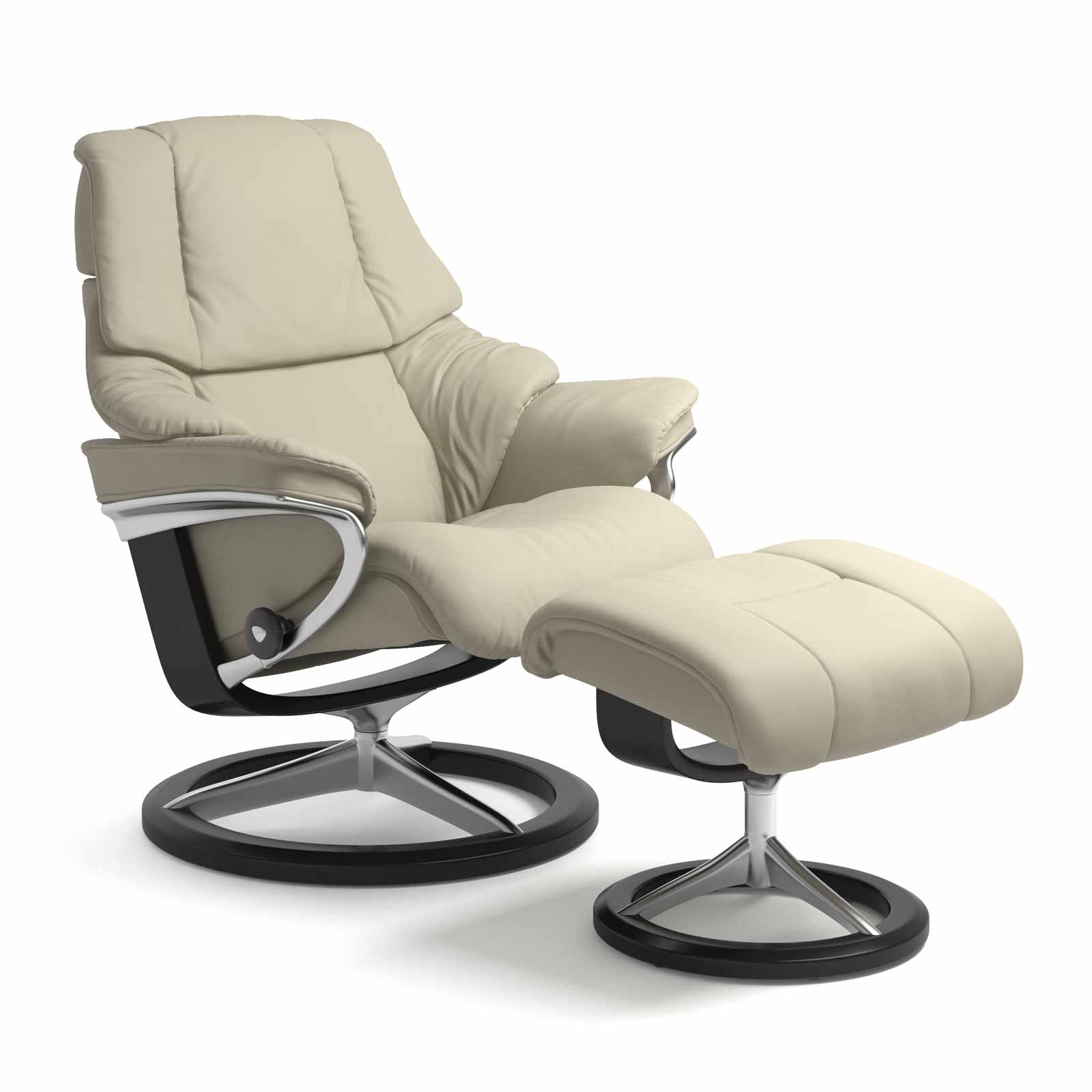 Stressless Sessel Reno Signature Paloma Light Grey Mit Hocker