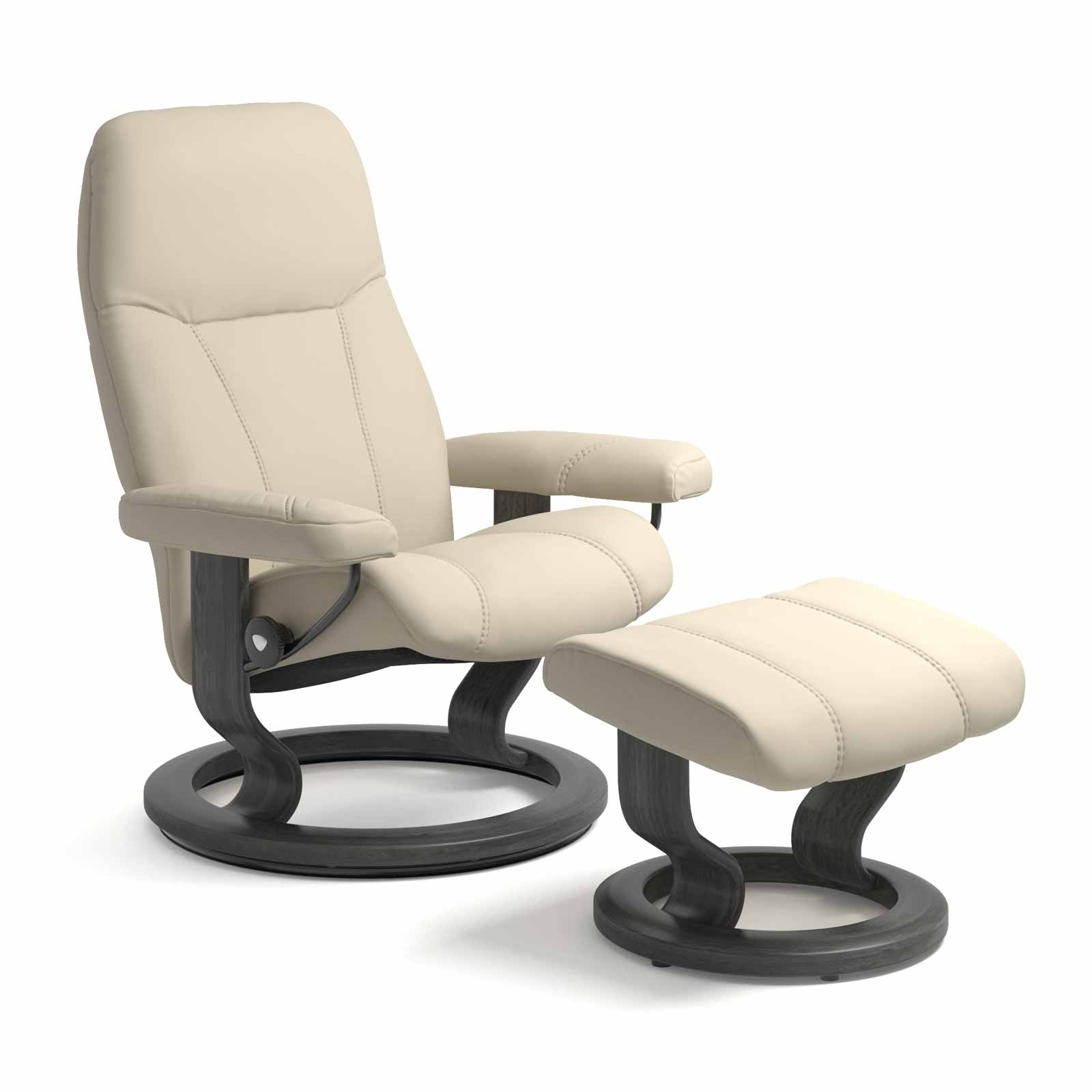 Stressless Consul M Sessel Und Hocker Stressless Sessel Consul M Batick Cream Mit Hocker