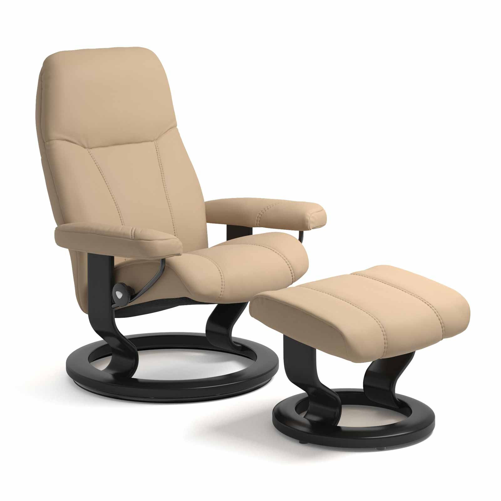 Stressless Sessel Wing Stressless Consul Classic Paloma Beige Mit Hocker | Stressless