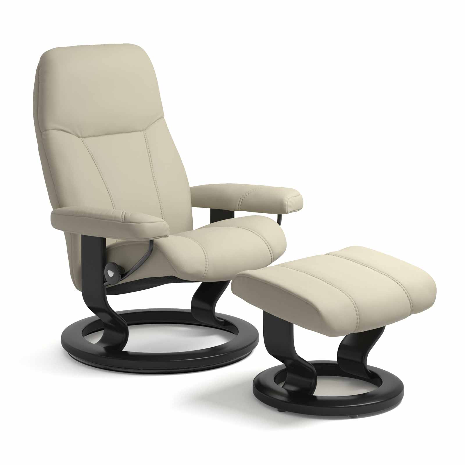 Ledersessel Reinigen Stressless Sessel Consul Classic Leder Paloma Light Grey Mit Hocker