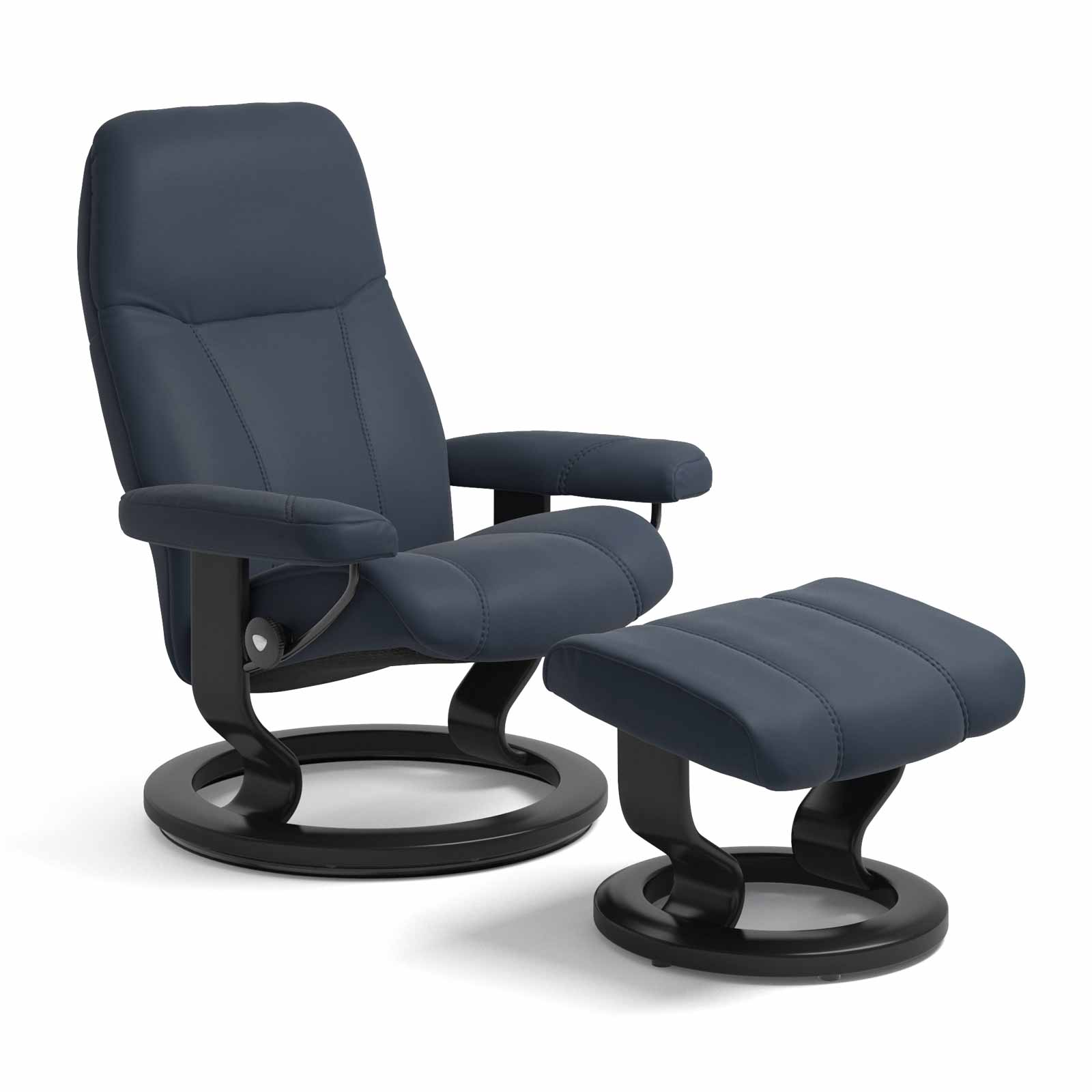 Oxford Sessel Stressless Consul Classic Oxford Blue Mit Hocker Stressless