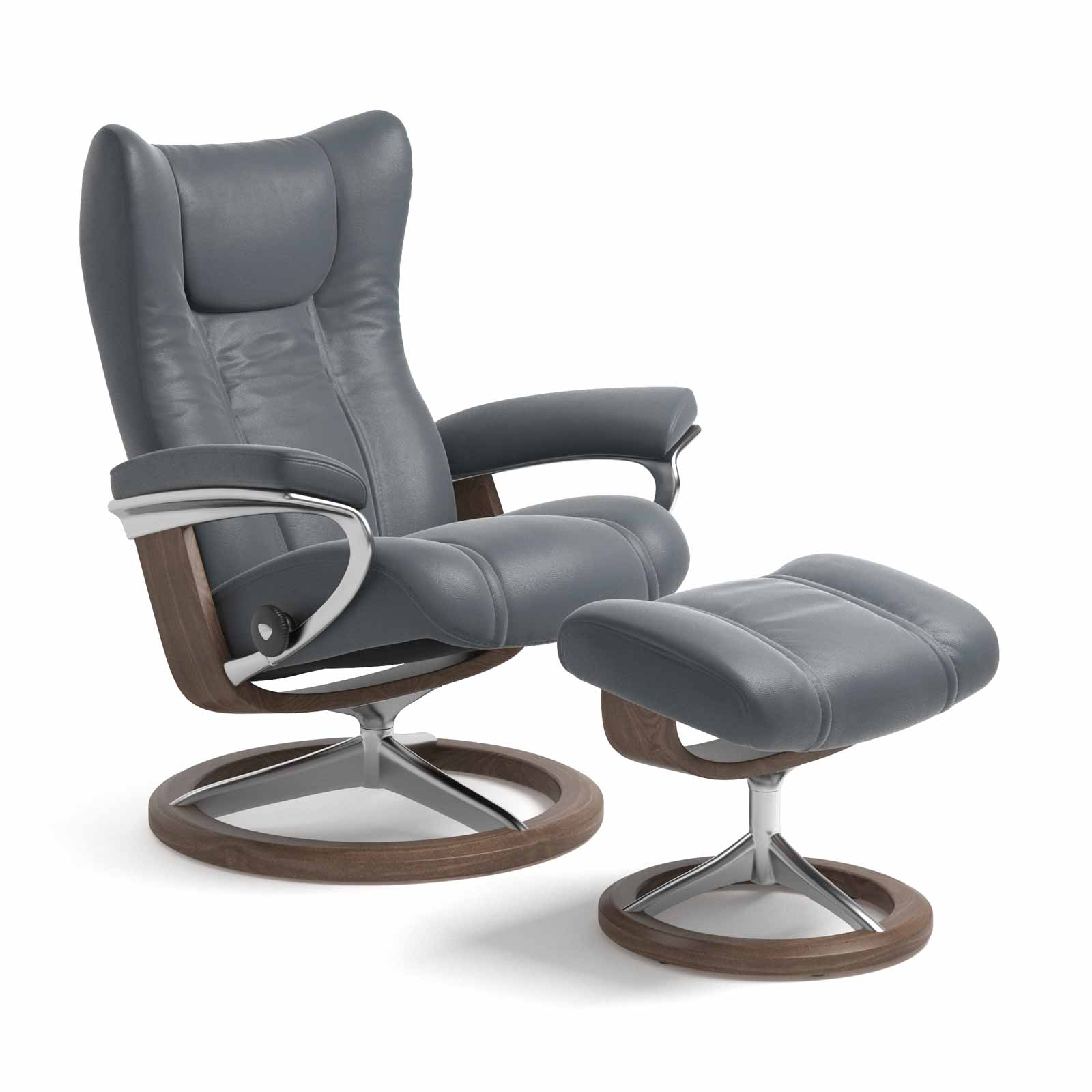Stressless Wing Signature Sessel Stressless Sessel Wing Signature Batick Atlantic Blue Mit