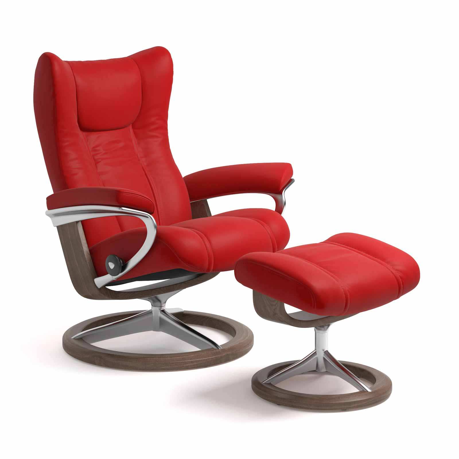 Stressless Magic Signature Sessel Stressless Sessel Wing Signature Batick Chilli Red Mit Hocker